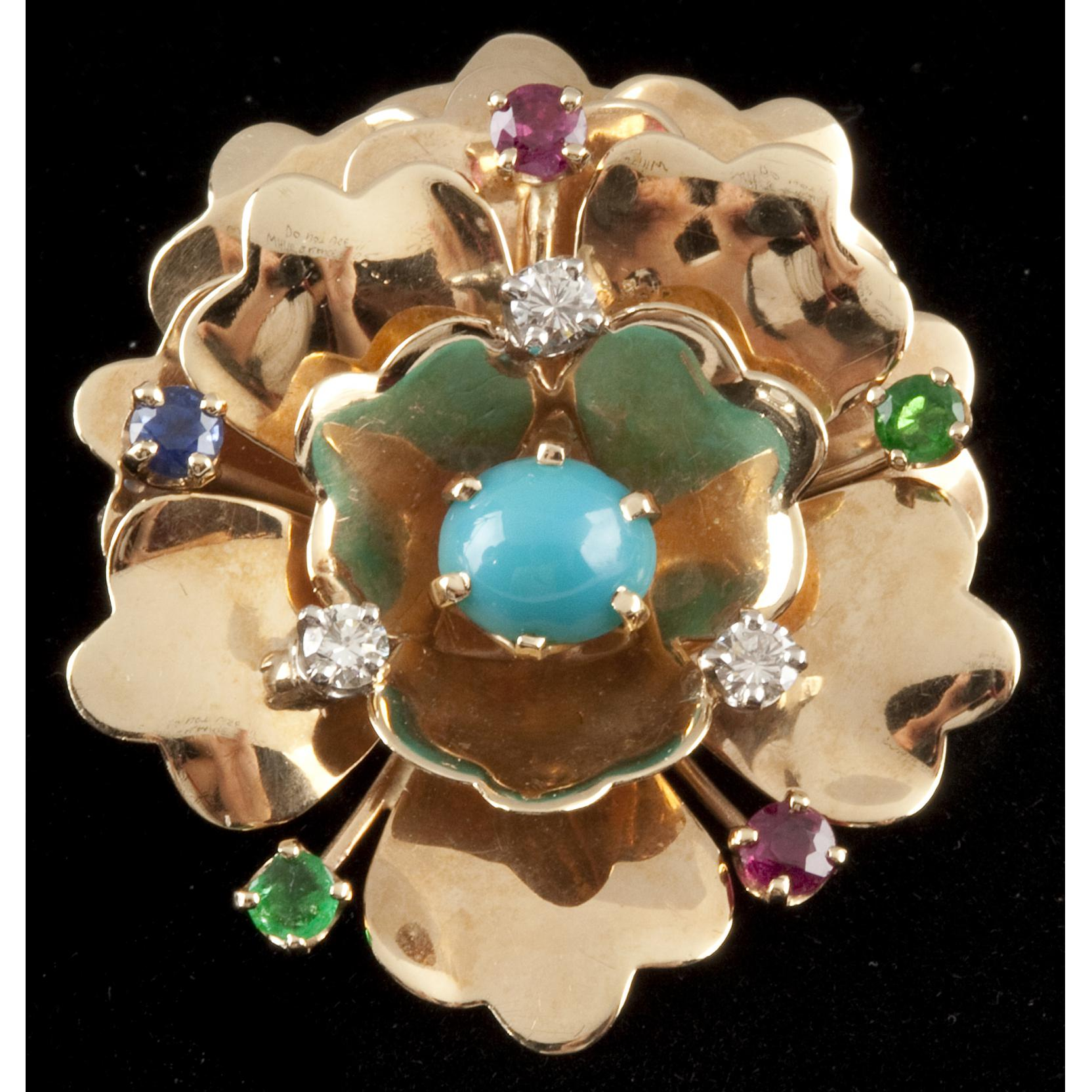 multi-stone-and-gold-floral-brooch-americana