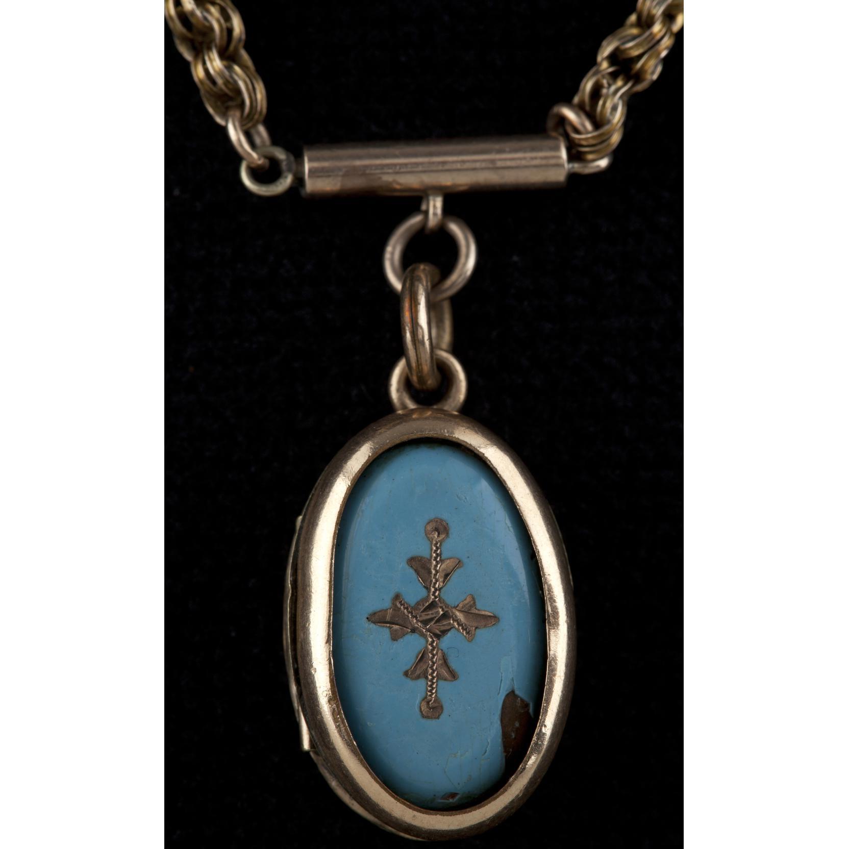 victorian-enamel-child-s-locket-and-chain
