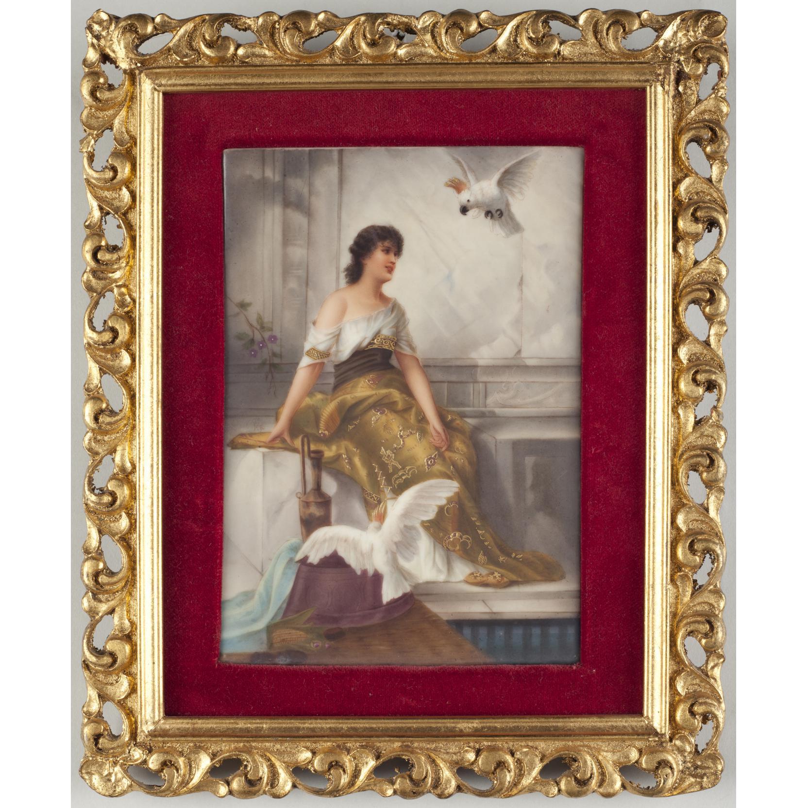 german-painting-on-porcelain-plaque