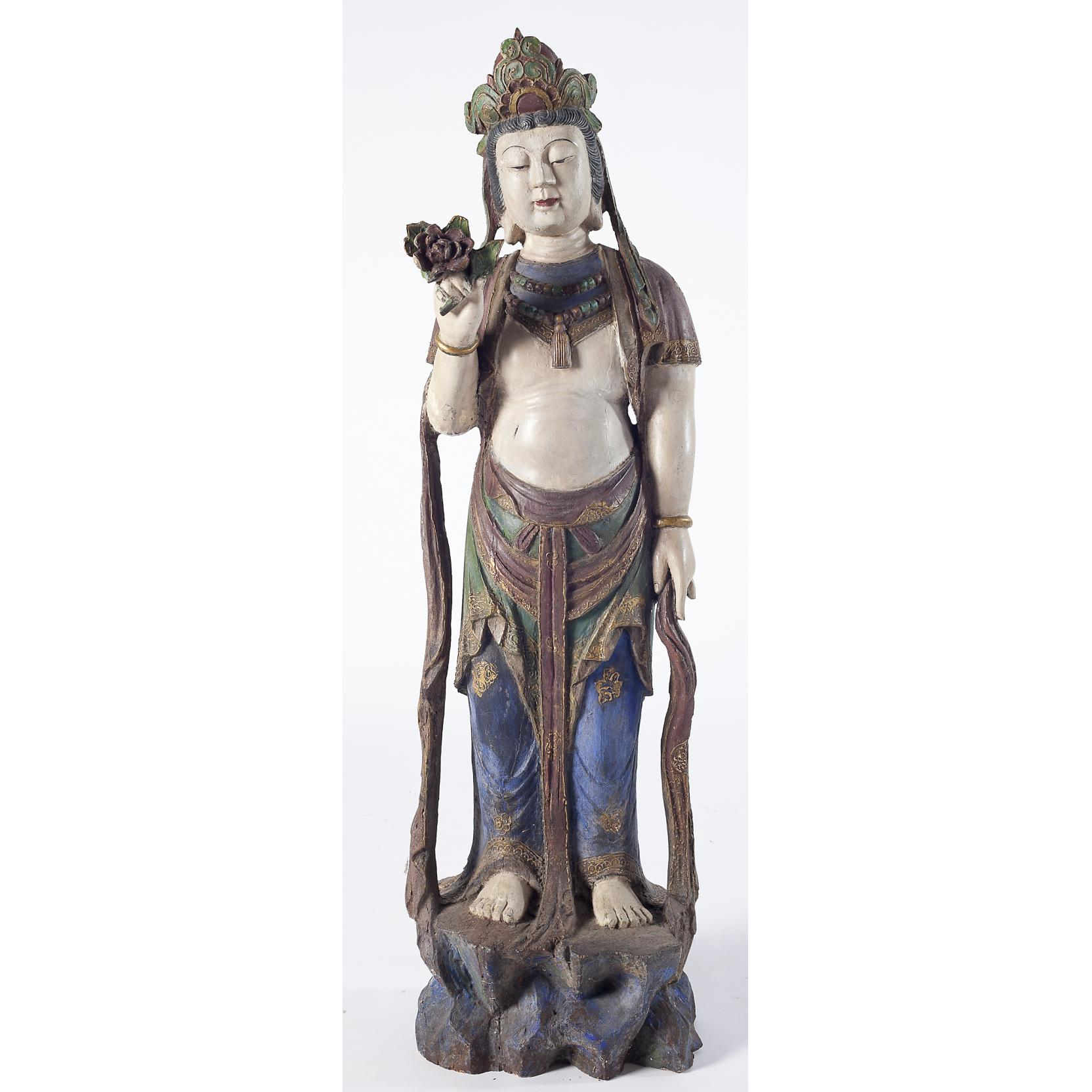 guanyin-compassion-carved-polychrome-large-figure
