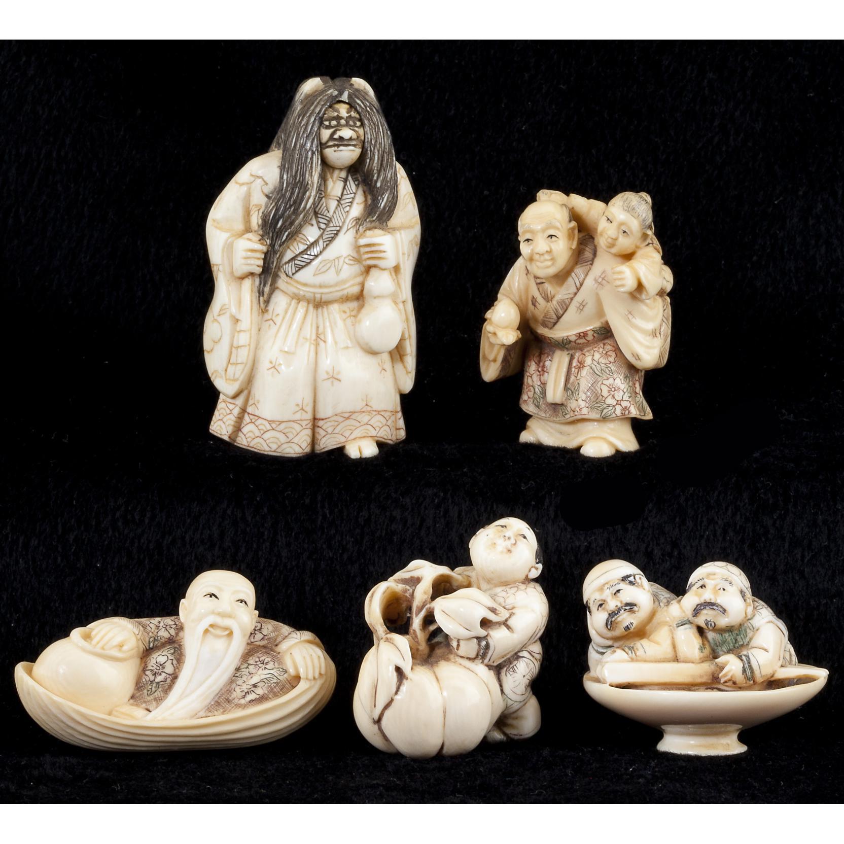 group-of-five-japanese-ivory-netsuke