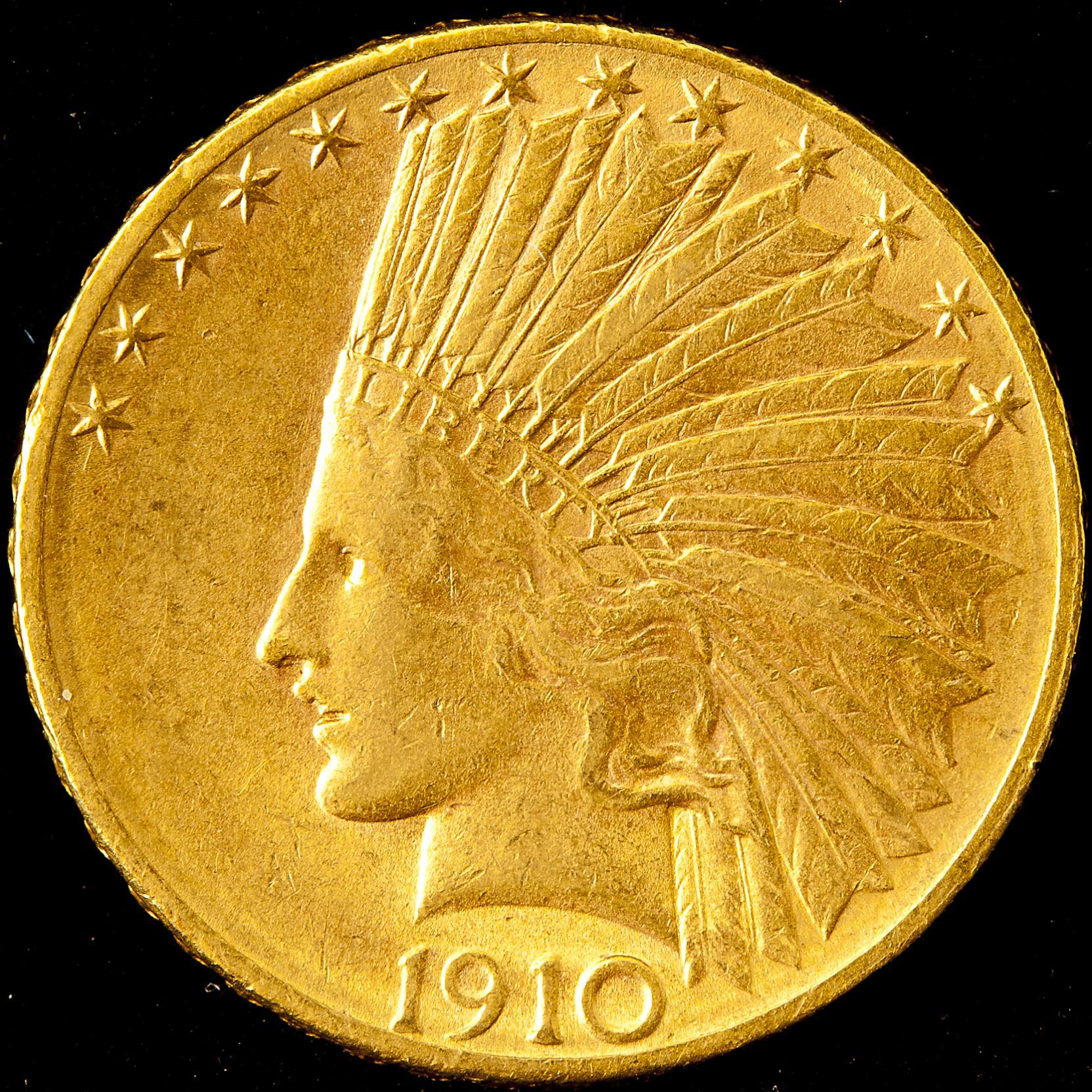 1910-d-indian-10-gold-eagle