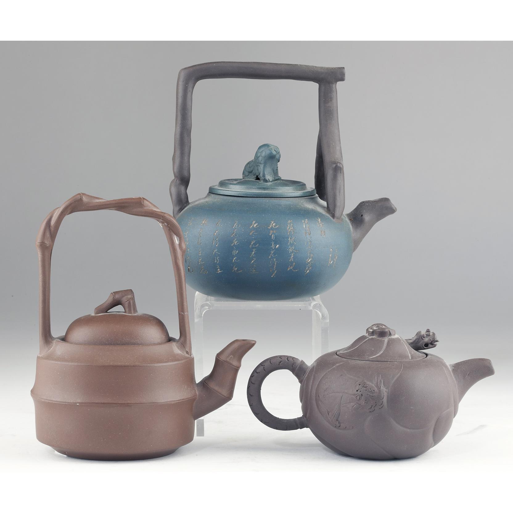 three-yixing-teapots