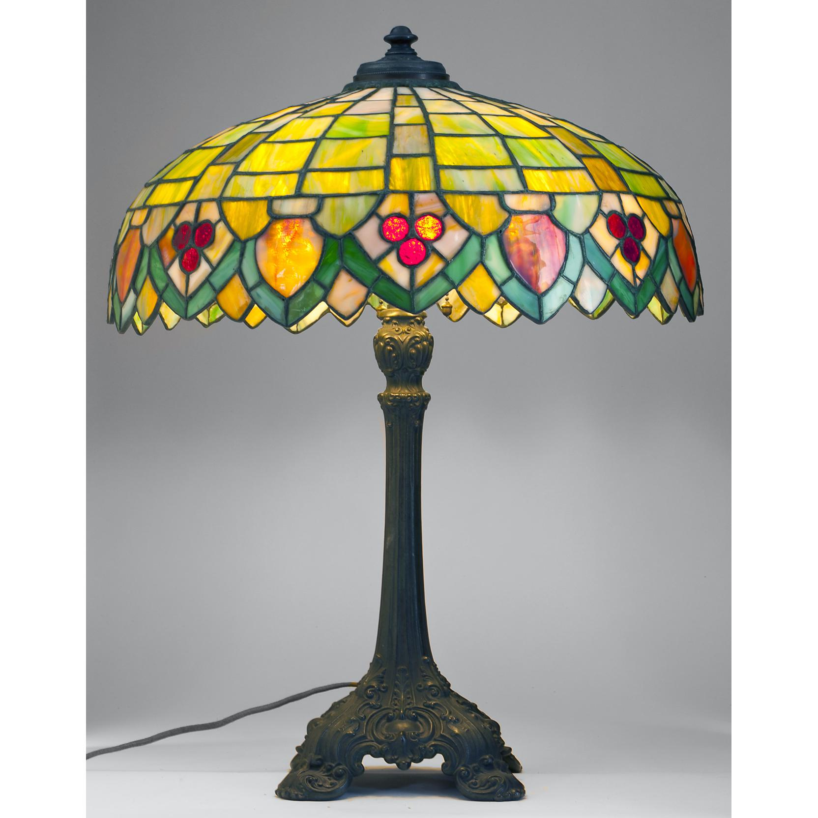 wilkinson-leaded-glass-and-bronze-table-lamp