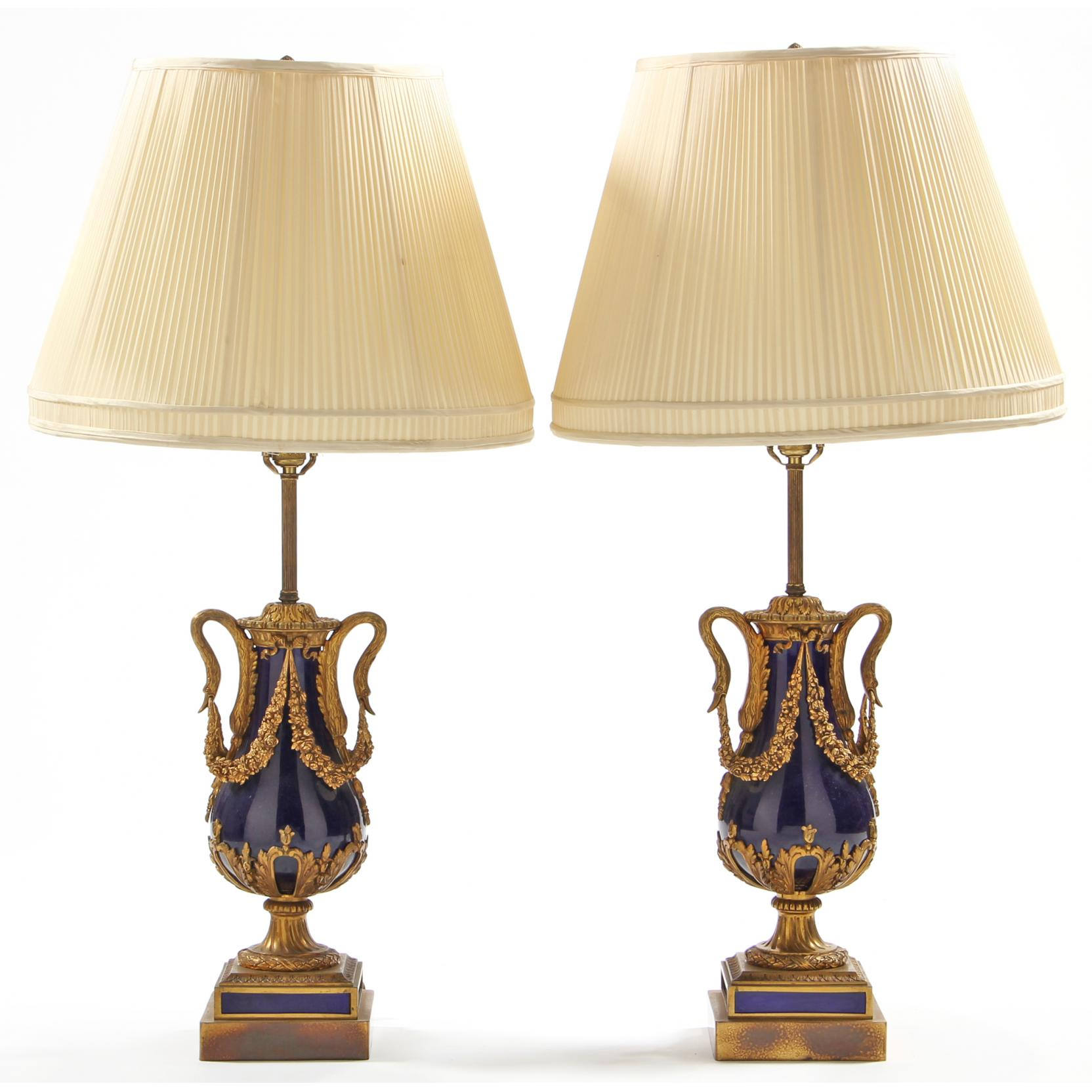 pair-french-ormolu-mounted-porcelain-table-lamps