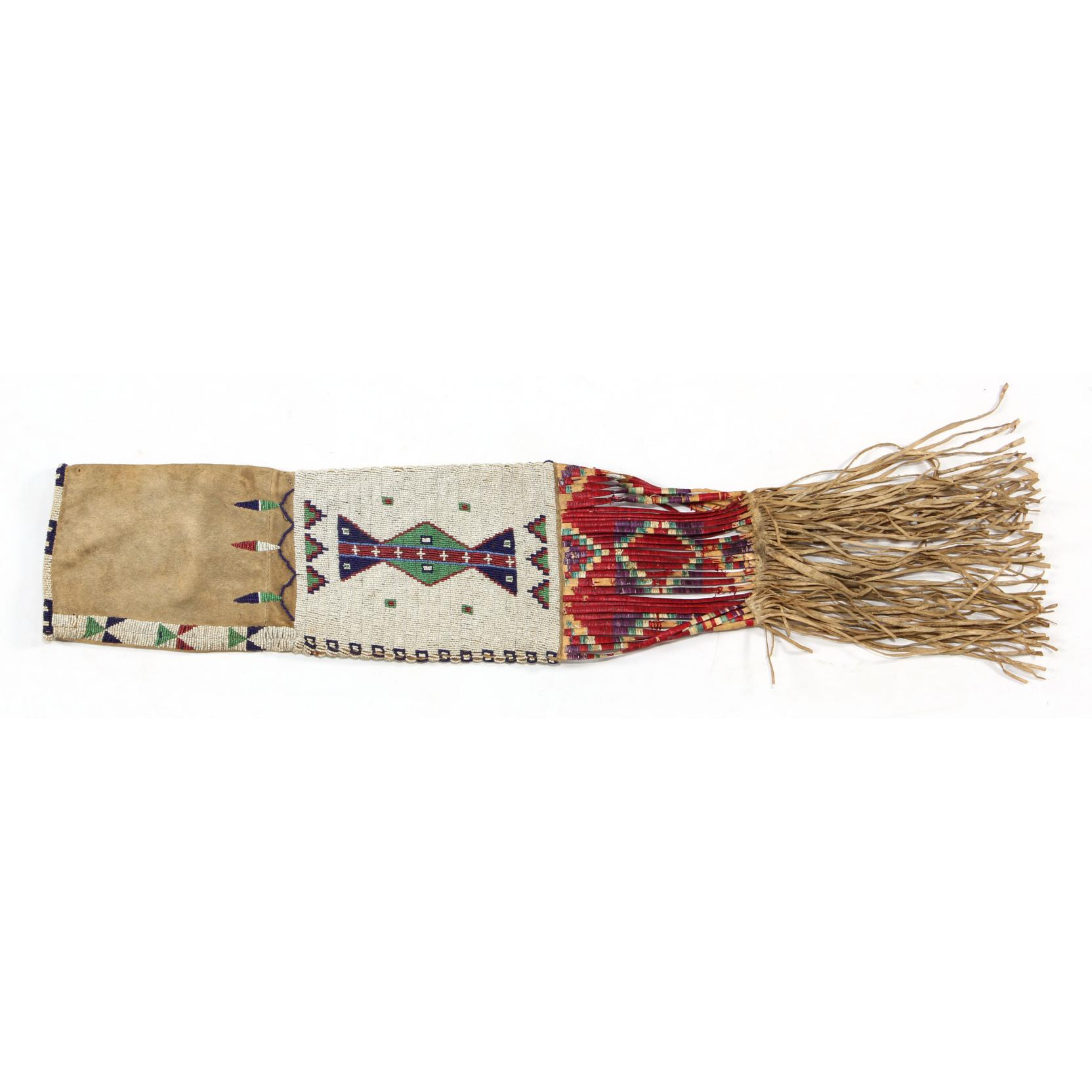sioux-beaded-and-fringed-hide-tobacco-bag