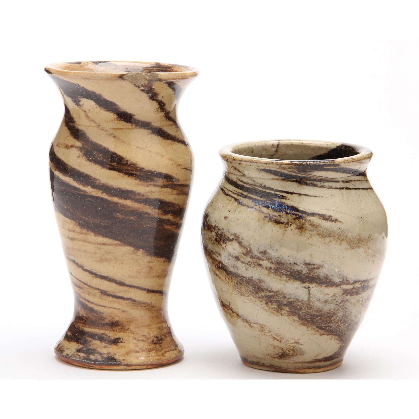 nc-pottery-two-swirl-vases
