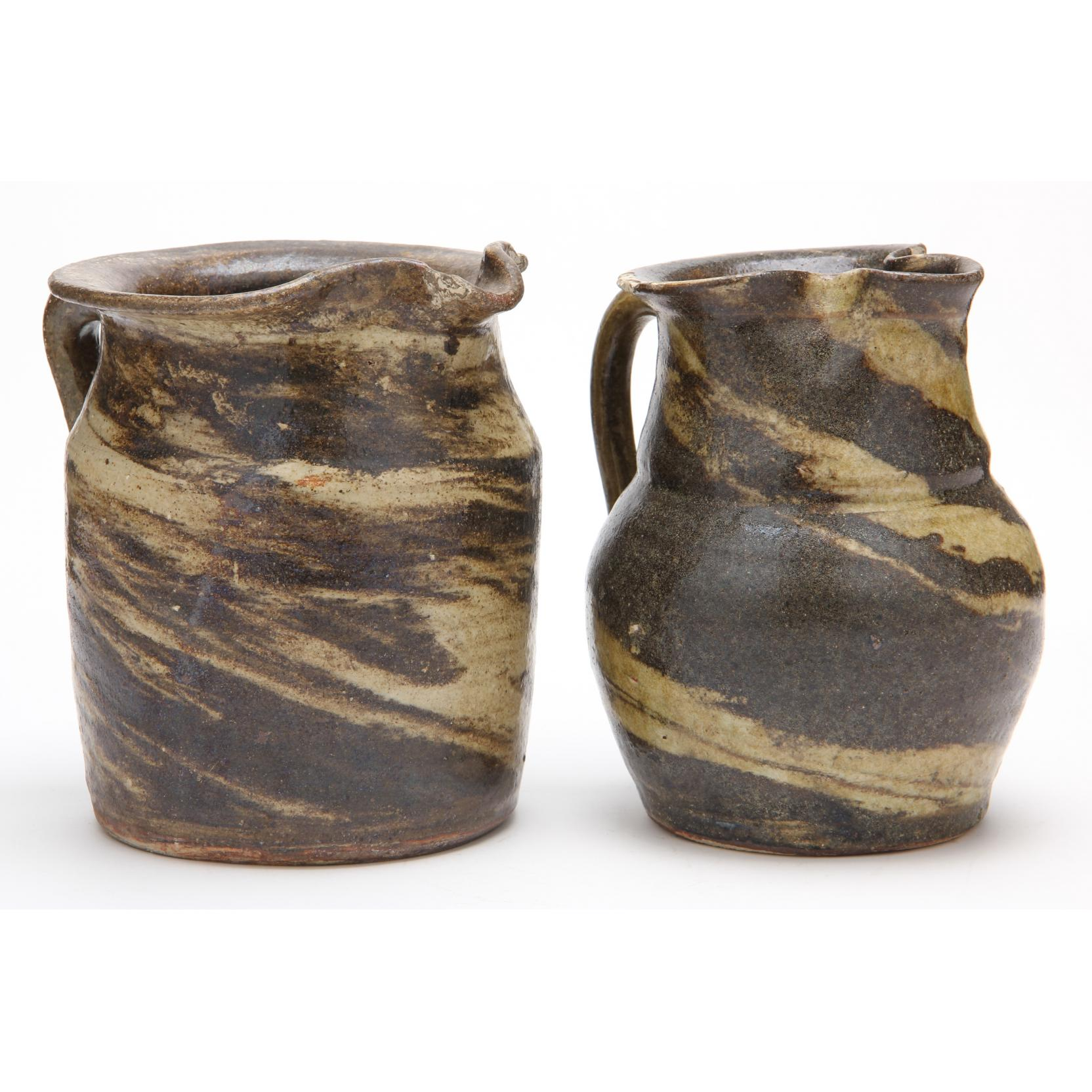nc-pottery-two-swirl-pitchers-propst-reinhardt