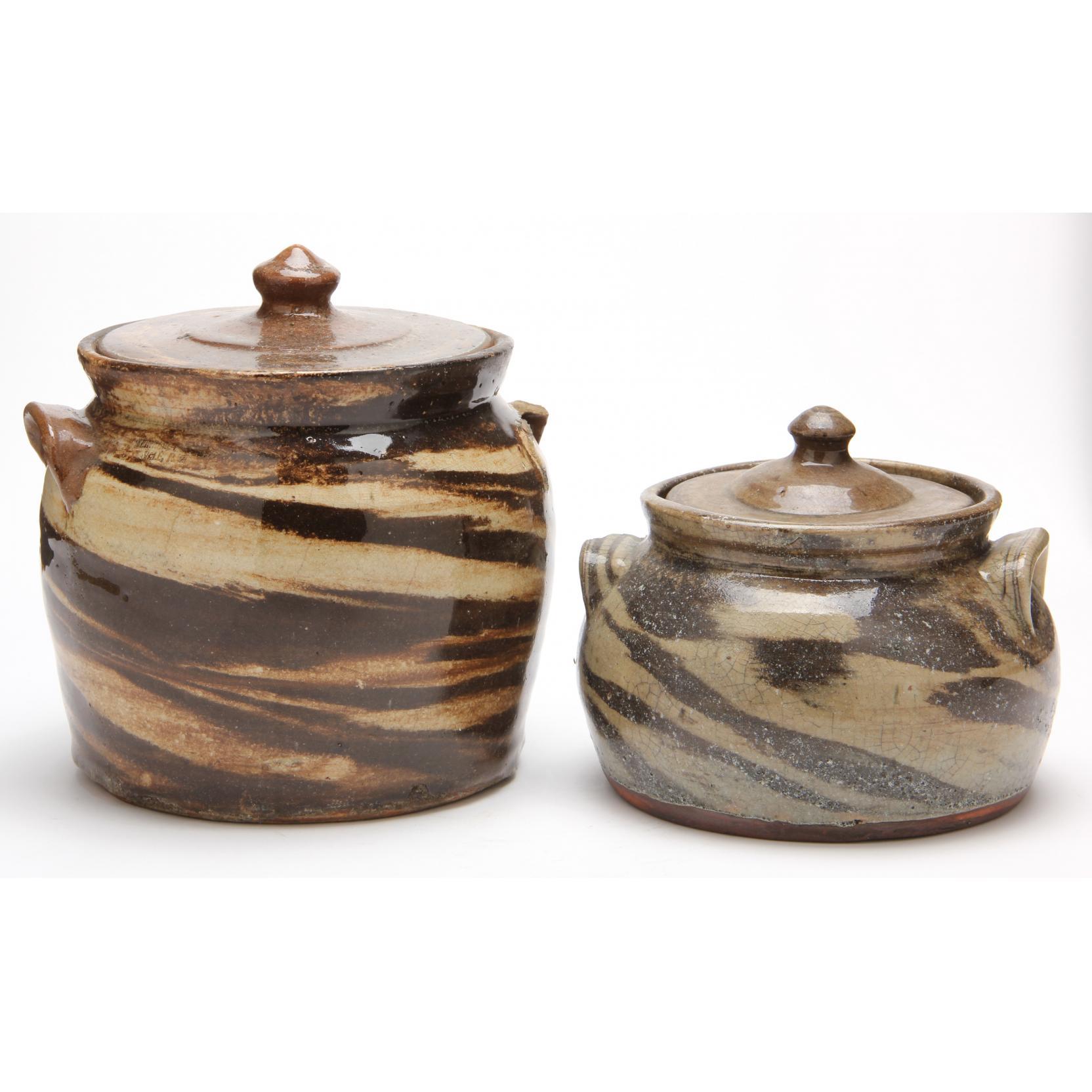 nc-pottery-two-swirl-beanpots