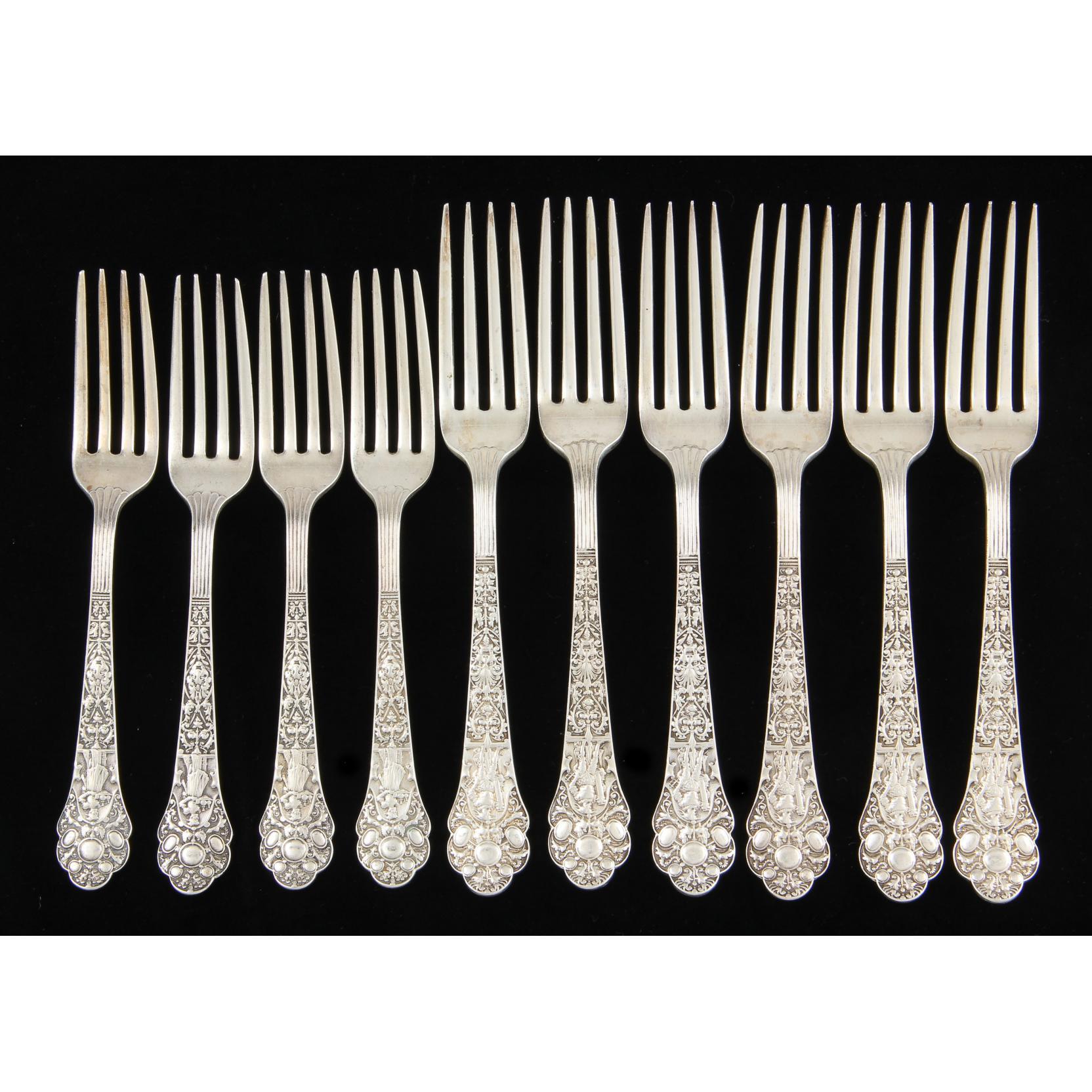 10-gorham-medici-sterling-silver-forks