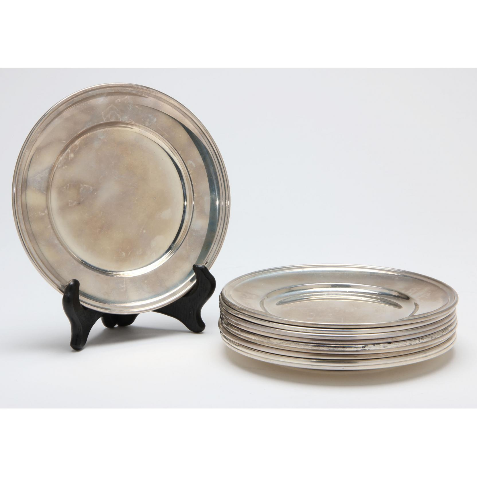 set-of-10-sterling-silver-bread-plates-by-gorham