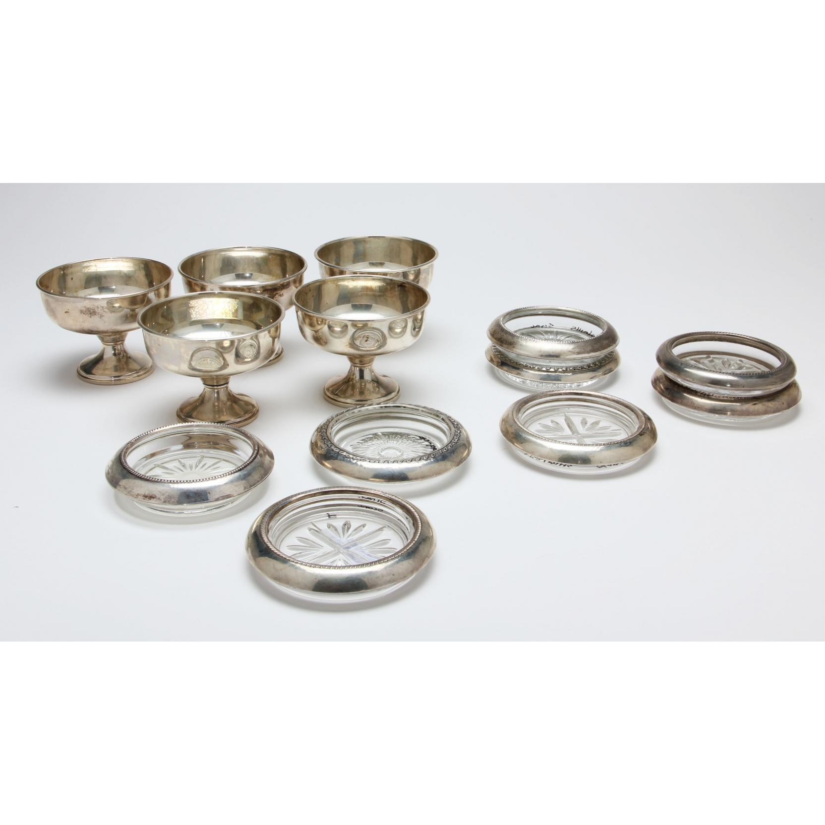 8-sterling-rimmed-coasters-5-sterling-silver-sherbets