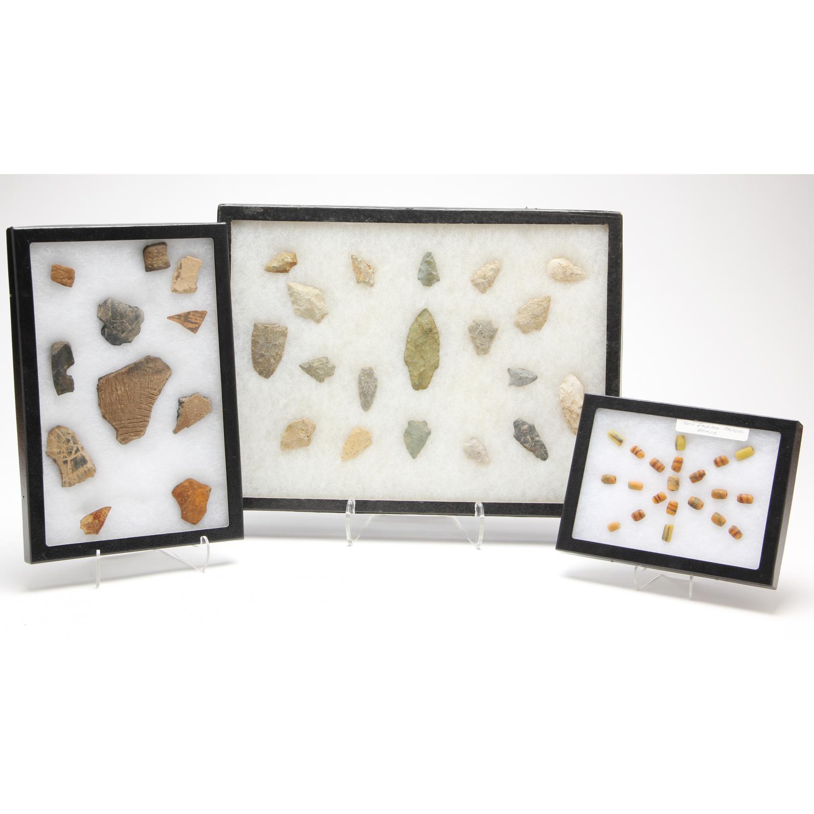 three-riker-mounts-of-indian-artifacts