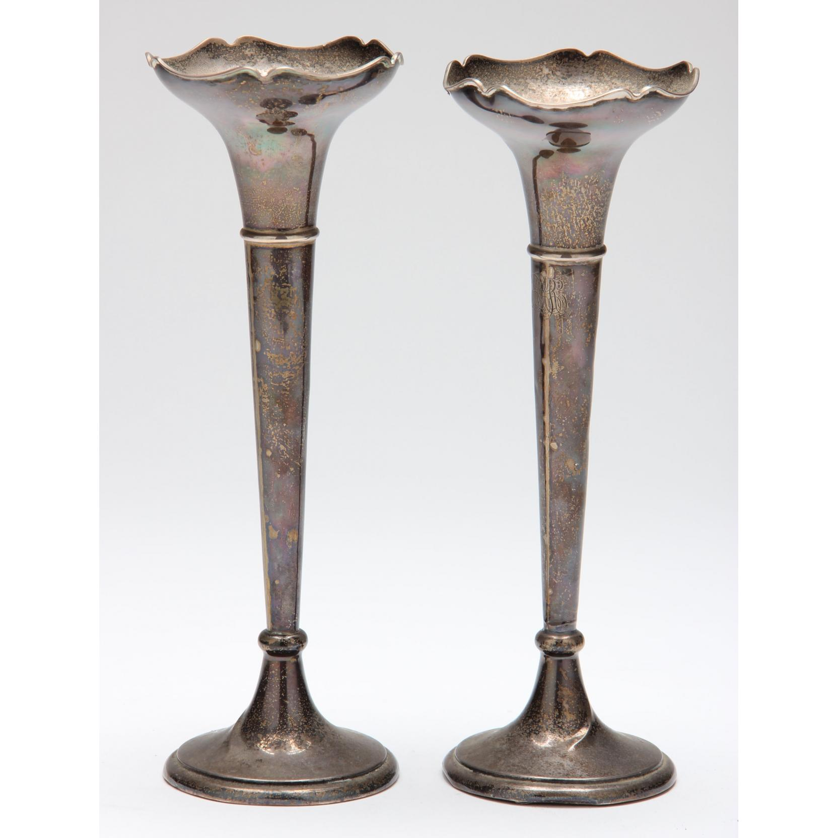 pair-of-english-art-nouveau-sterling-silver-bud-vases