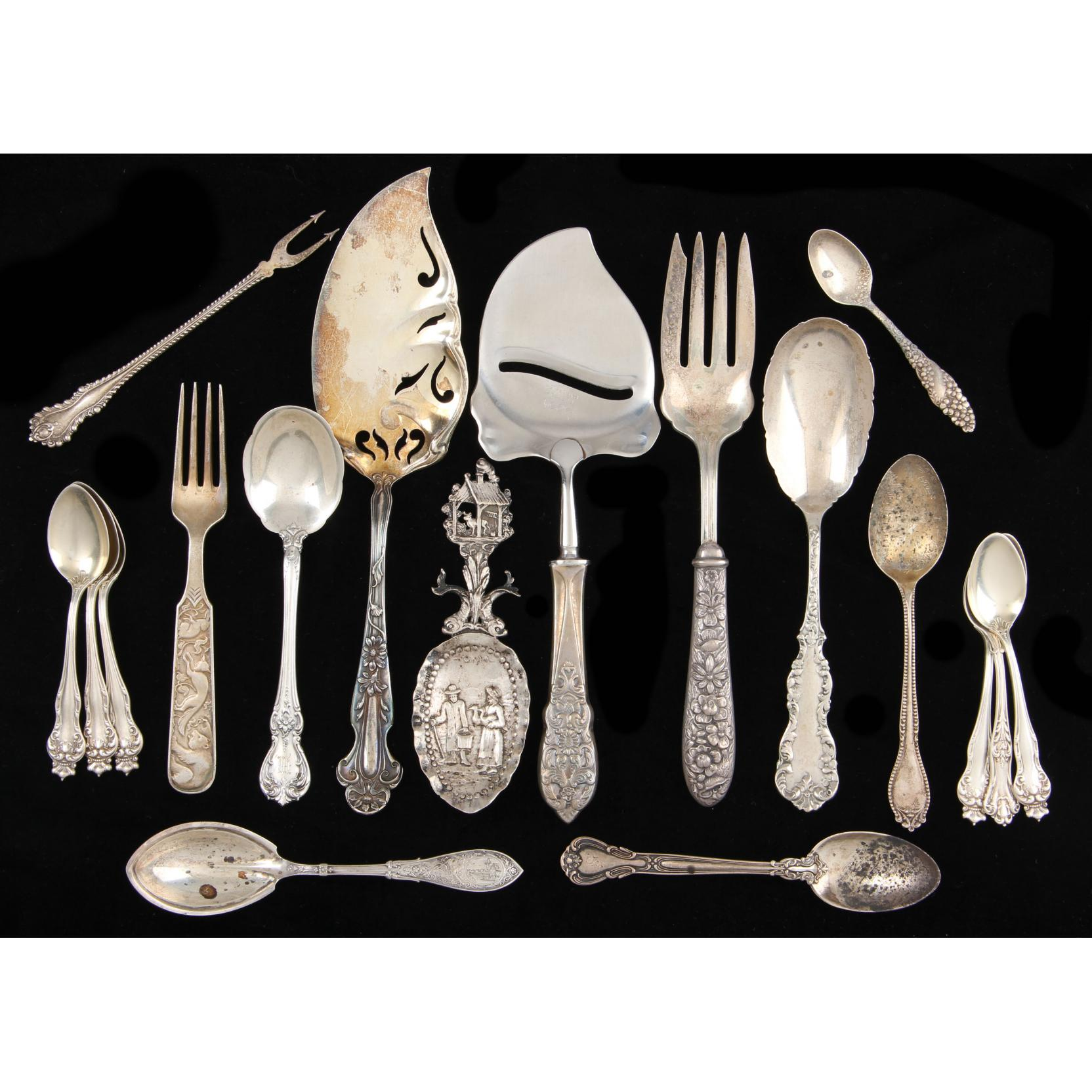 assorted-american-sterling-silver-flatware