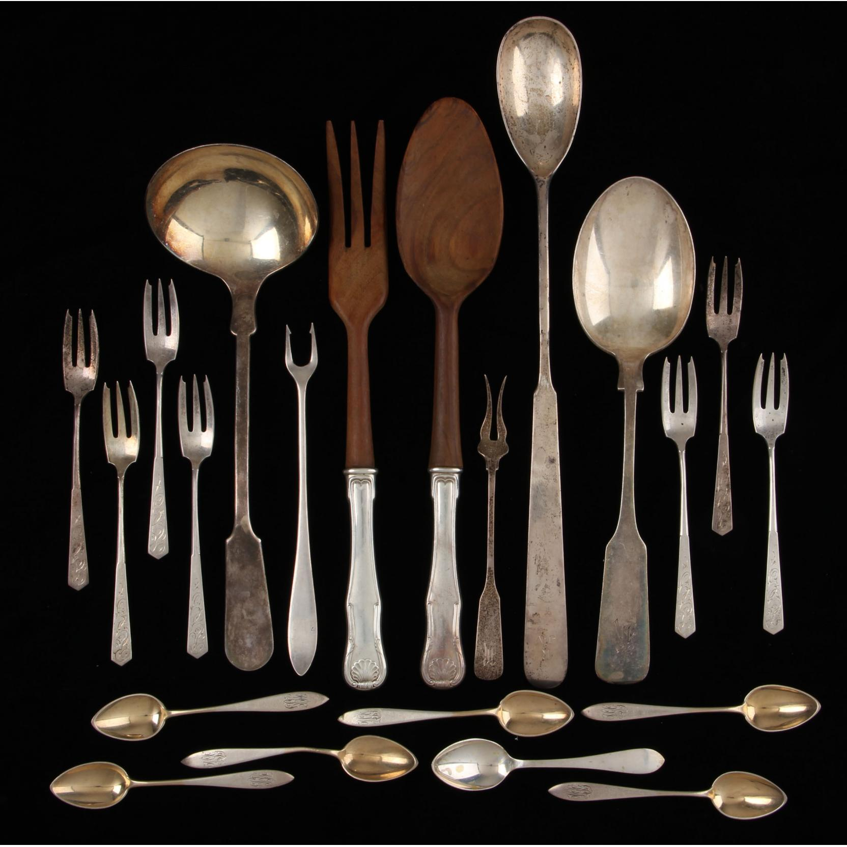 21-pieces-of-american-sterling-silver-silverplate