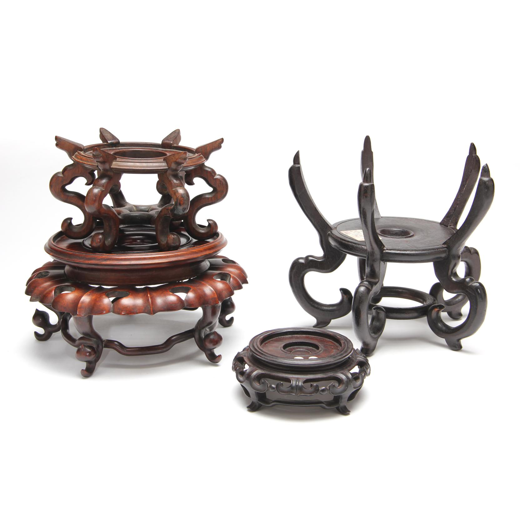 four-chinese-hardwood-stands