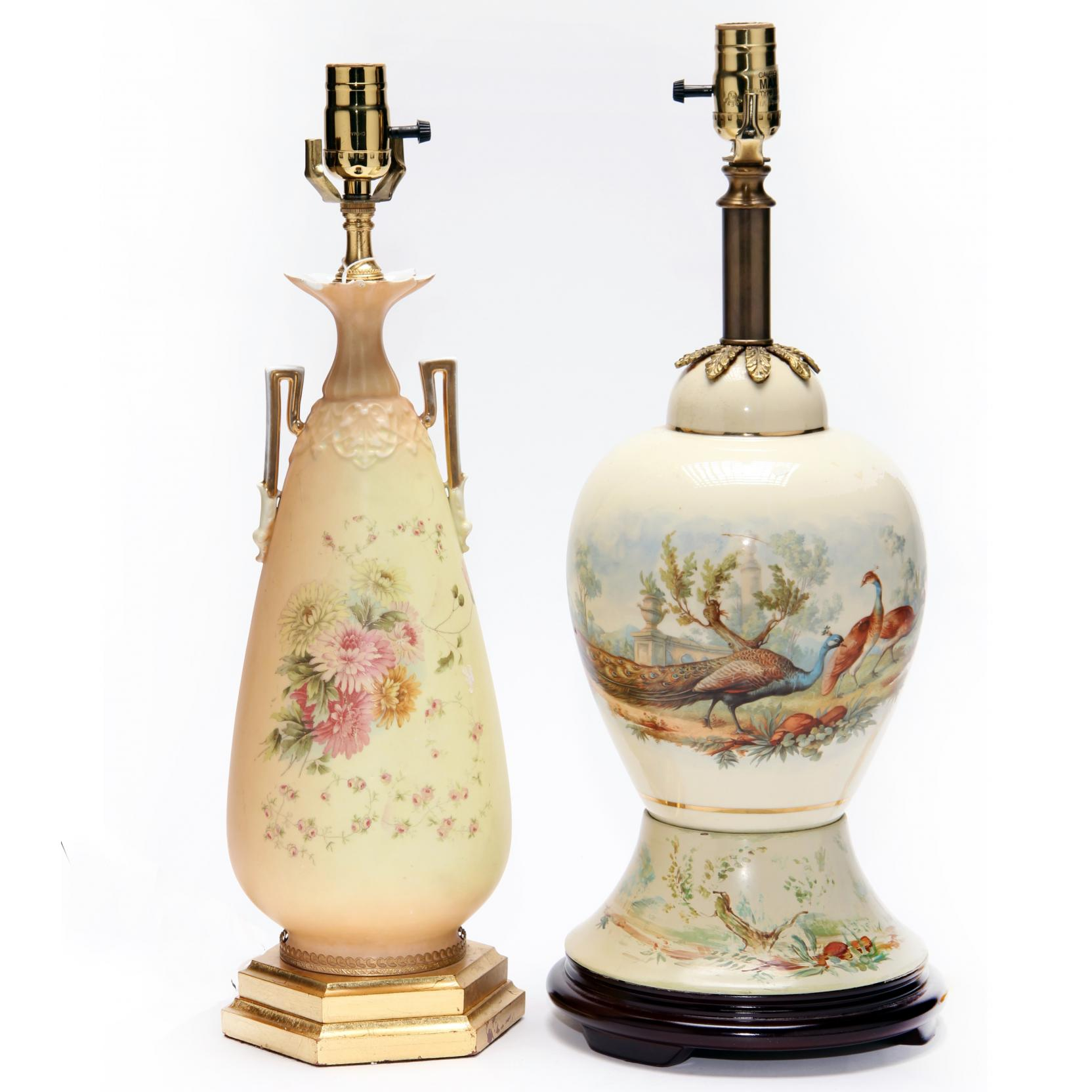two-vintage-porcelain-table-lamps