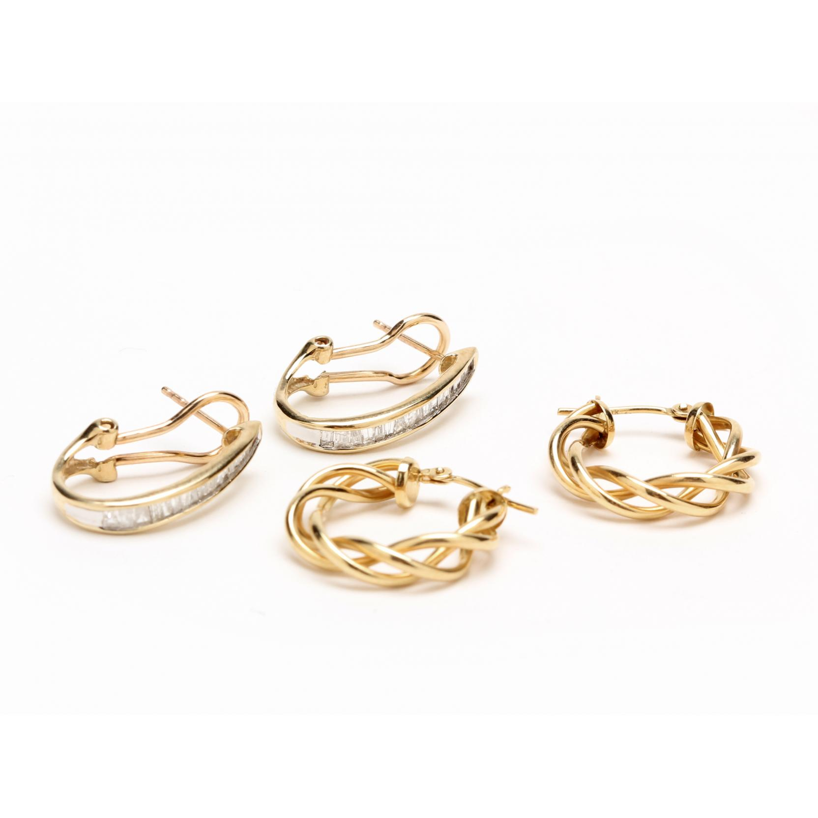 two-pairs-gold-earrings