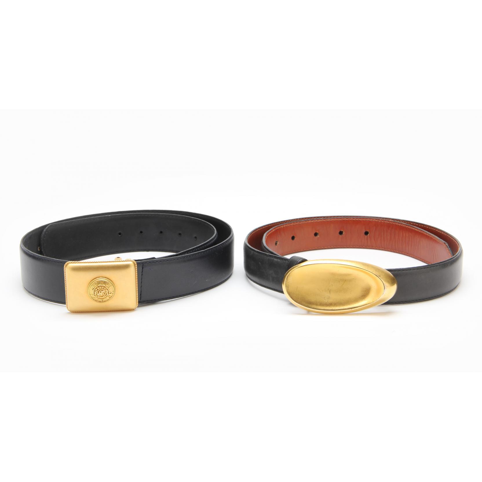 two-designer-belts