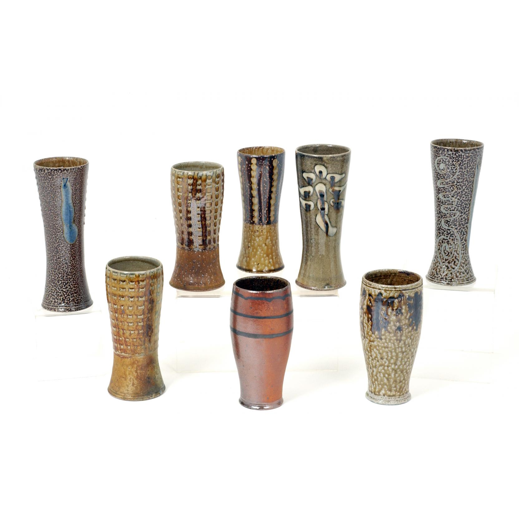 group-of-mark-hewitt-tall-drinking-vessels