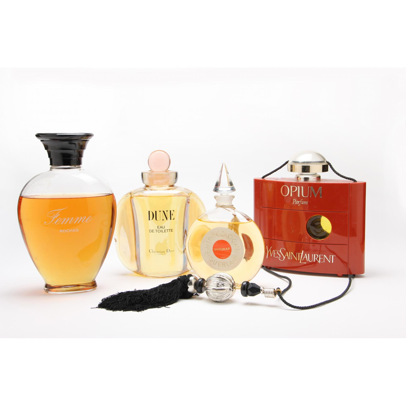 four-factice-perfume-display-bottles
