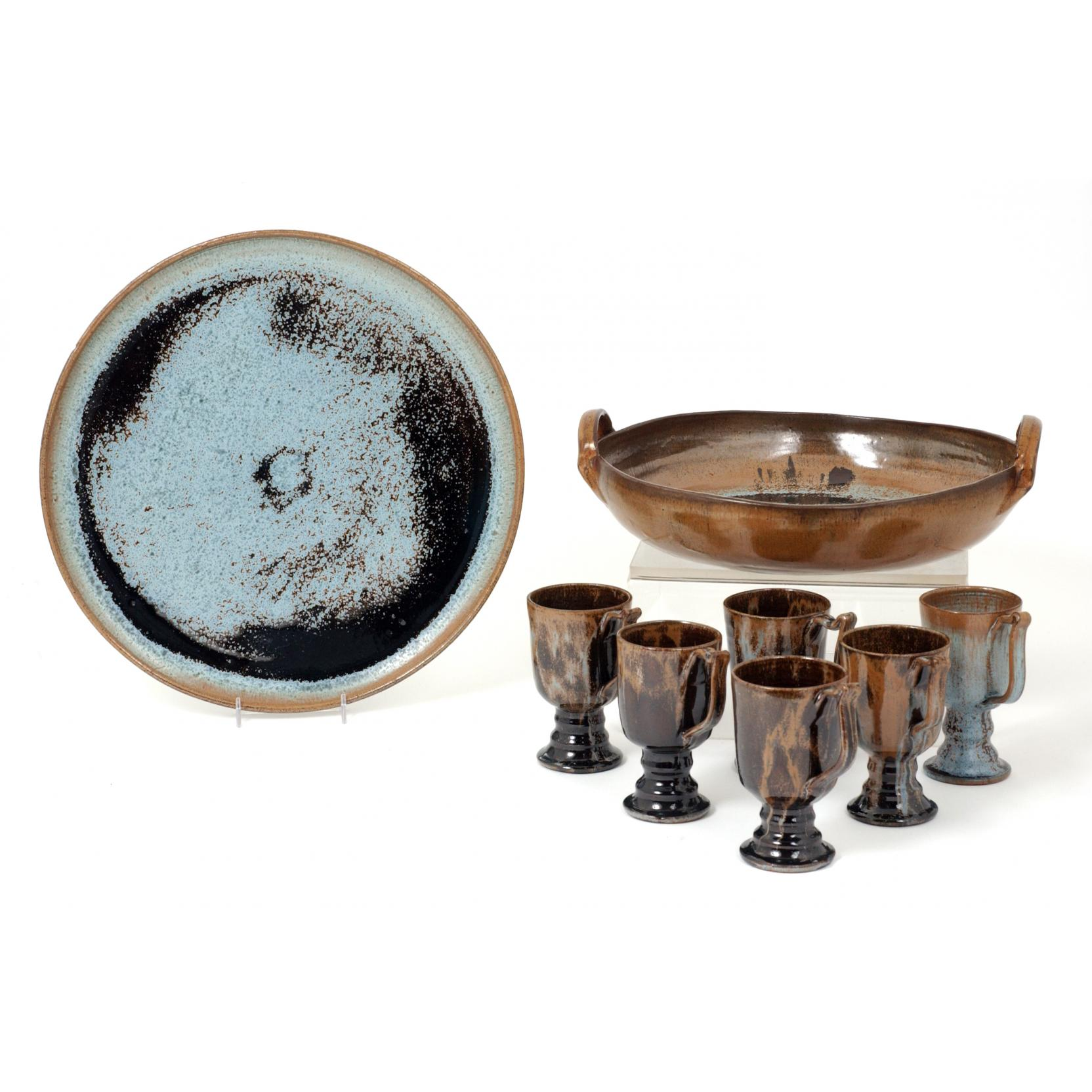eight-piece-serving-set-by-a-r-cole-pottery