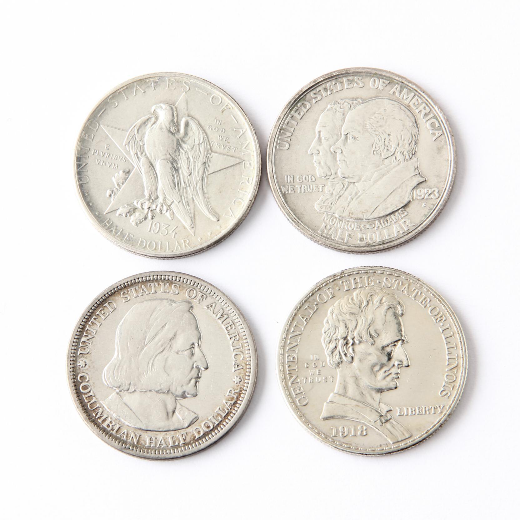 four-classic-commemorative-half-dollars