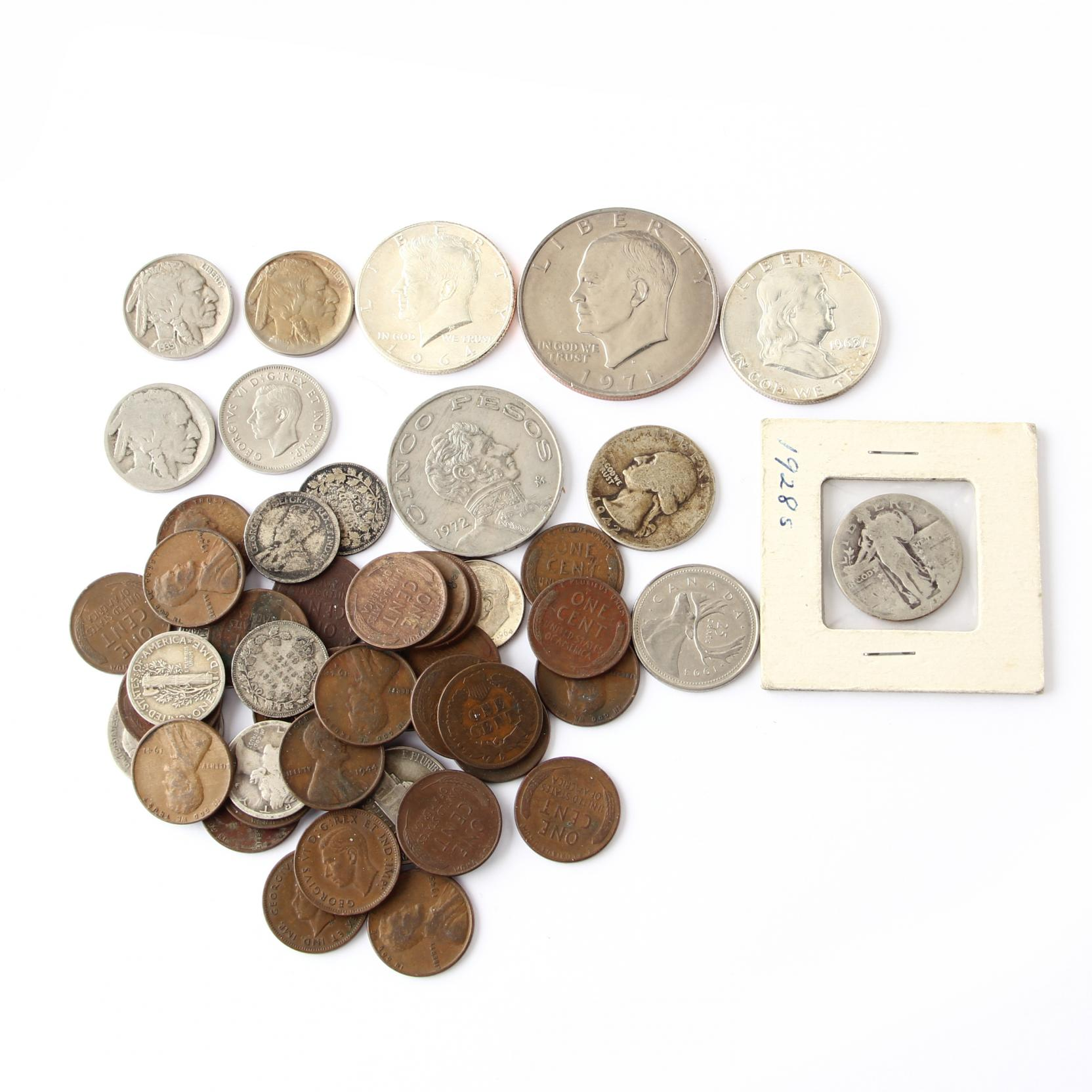 mixed-group-of-collectible-20th-century-coins