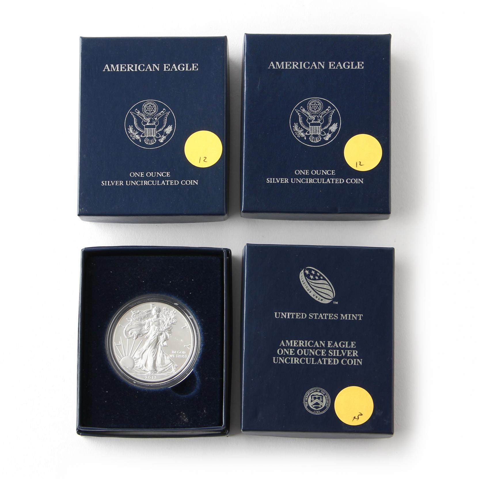 four-uncirculated-american-eagle-silver-bullion-coins