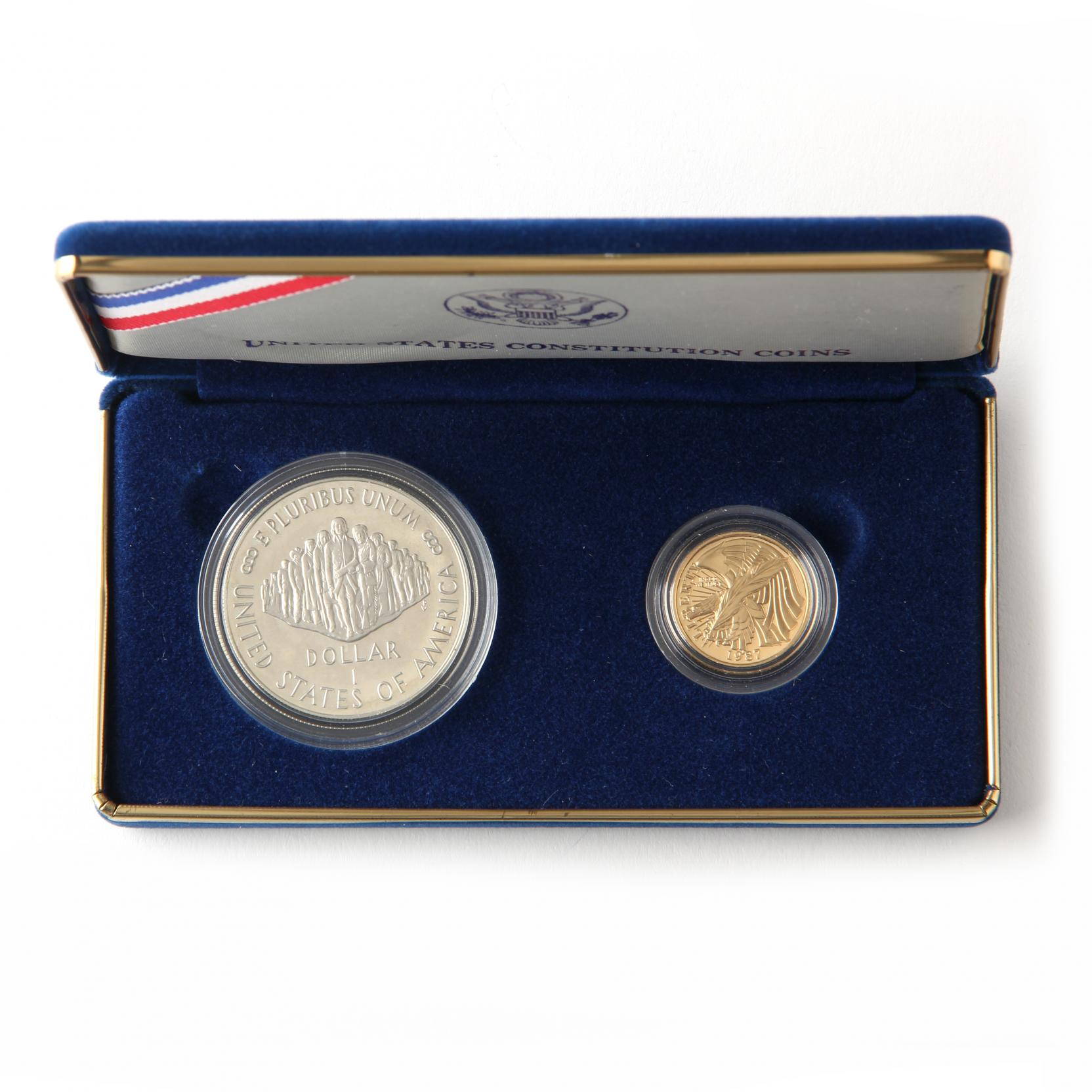 1987-u-s-constitution-silver-and-gold-proof-coin-set