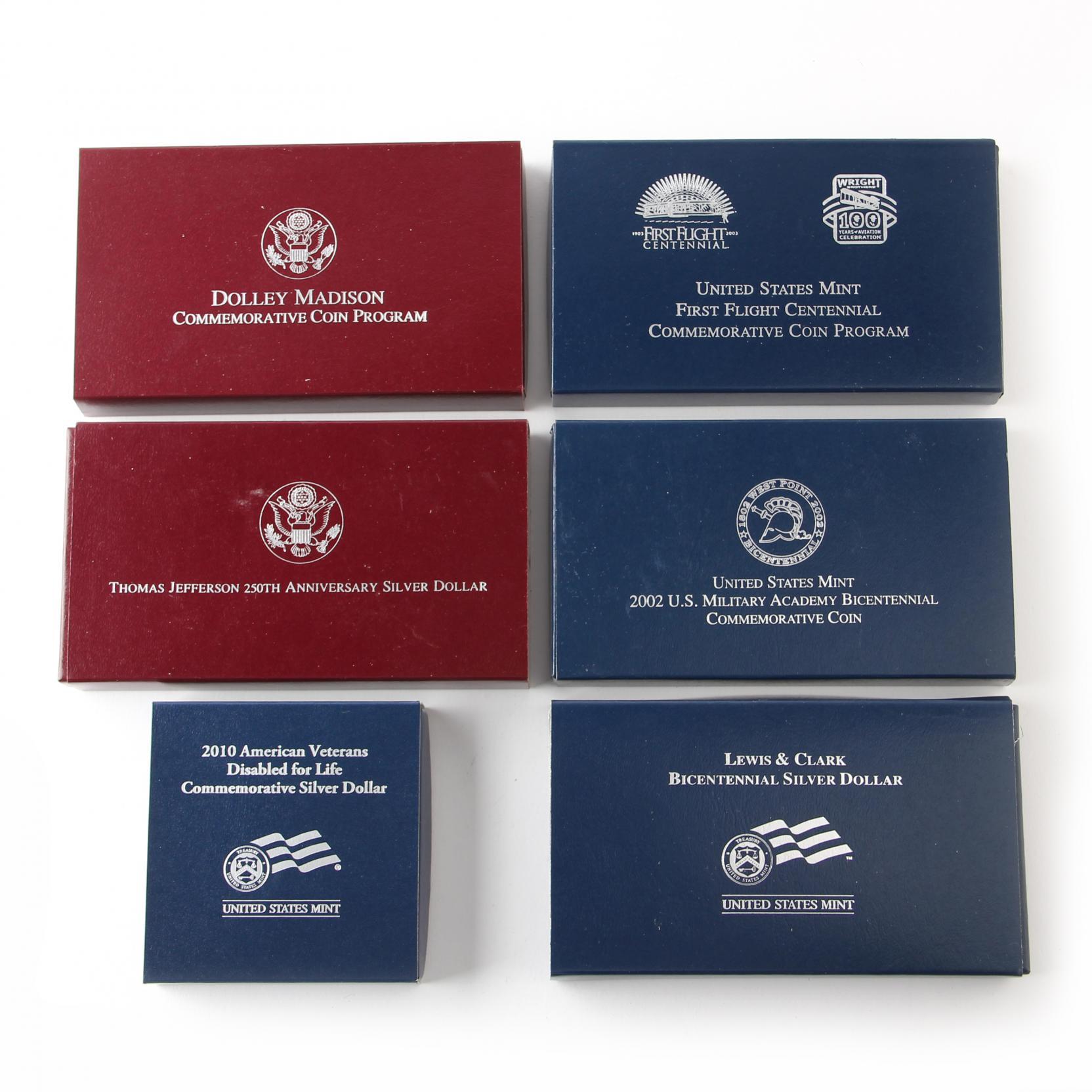six-proof-commemorative-silver-dollars