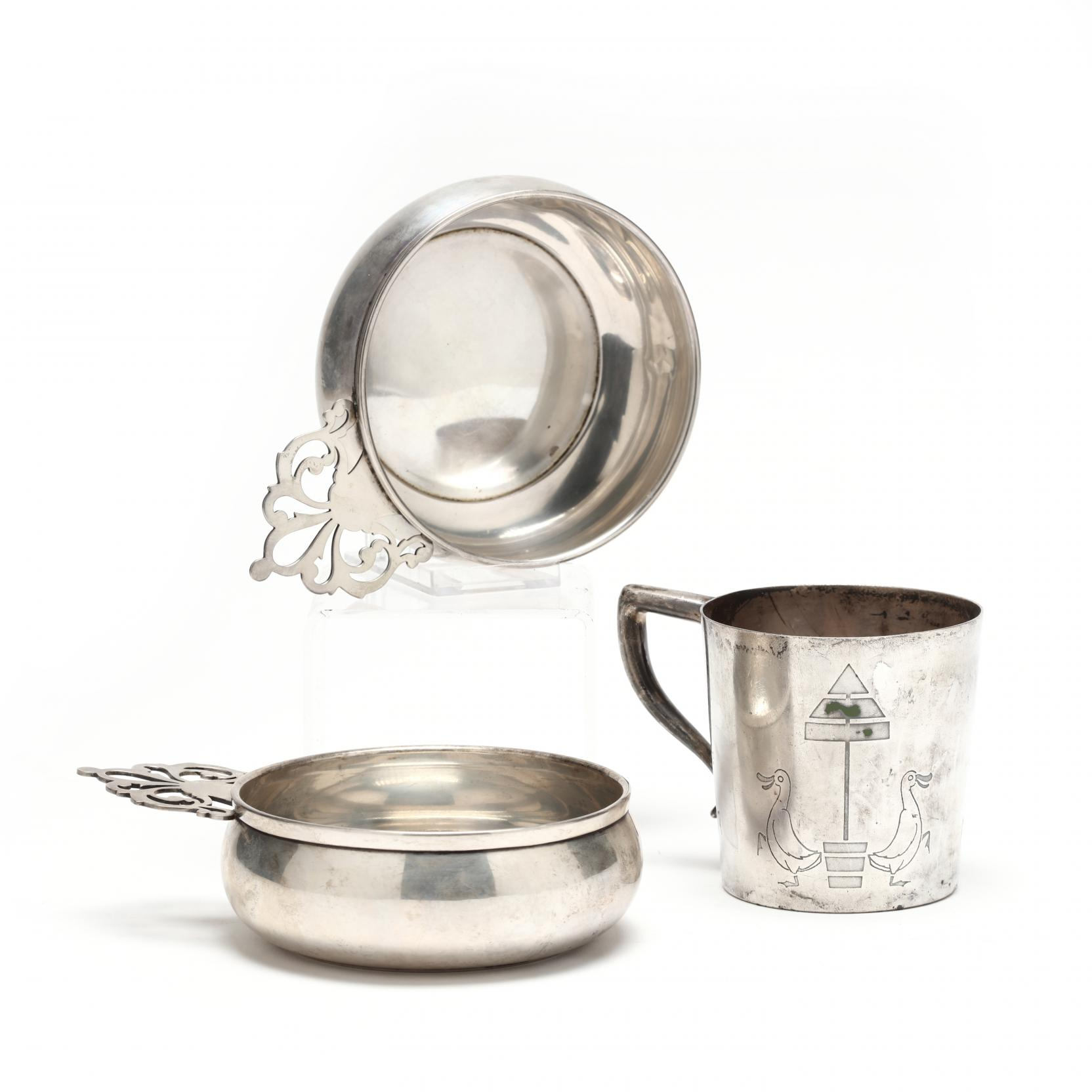 vintage-child-s-sterling-silver-cup-two-porringers