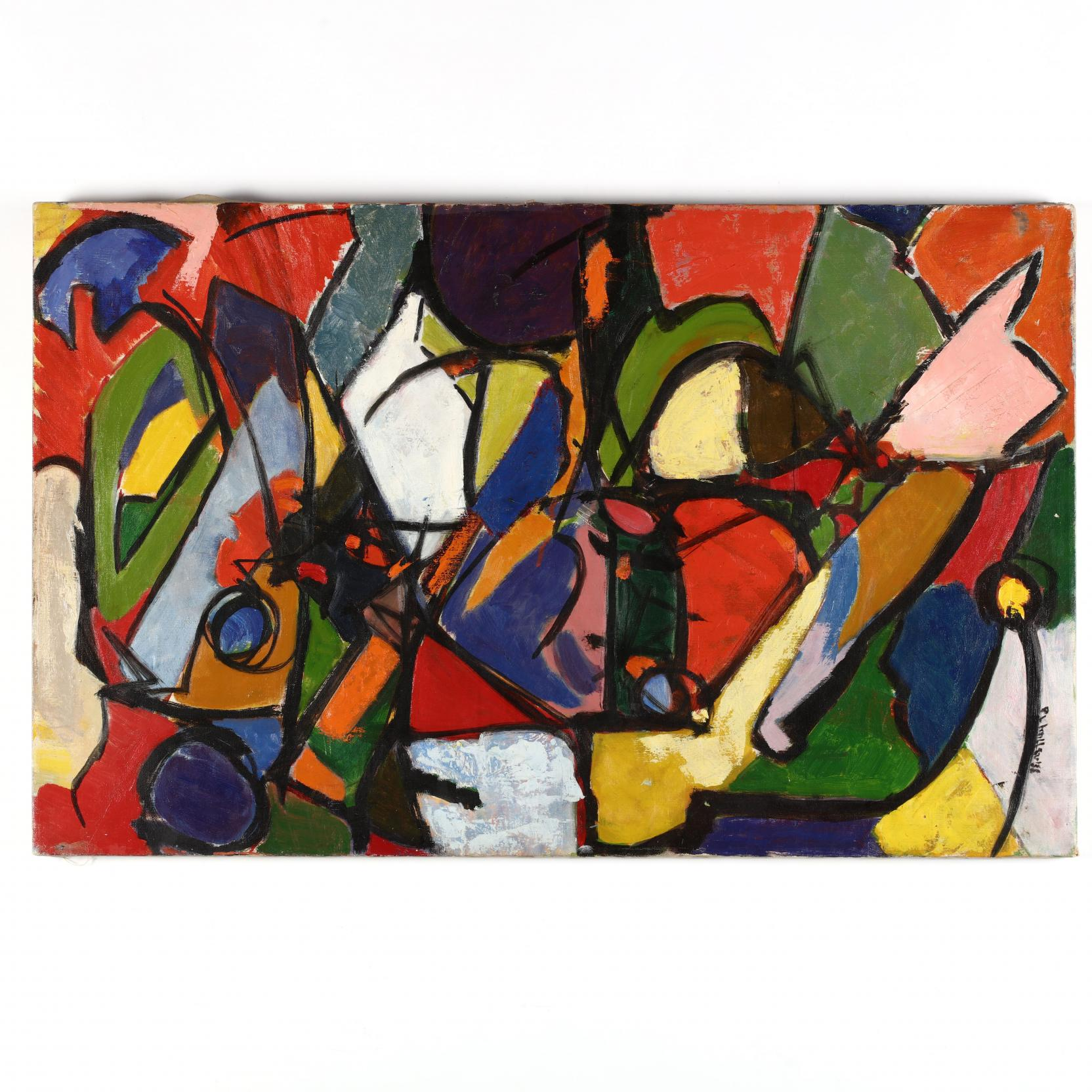 mid-century-colorful-abstract-painting
