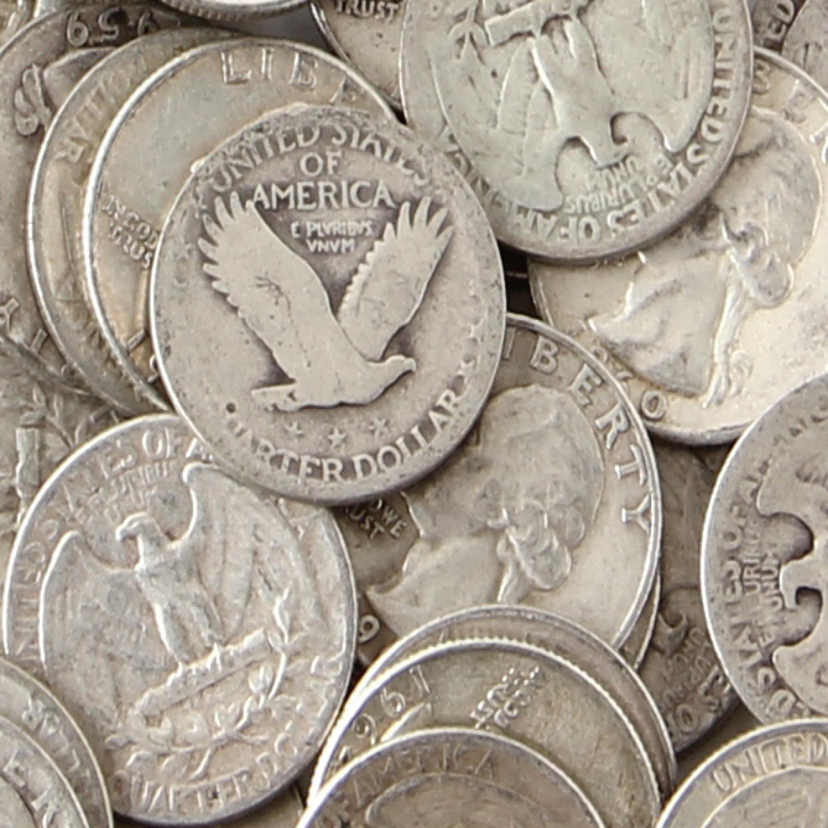 800-circulated-pre-1965-90-silver-quarters