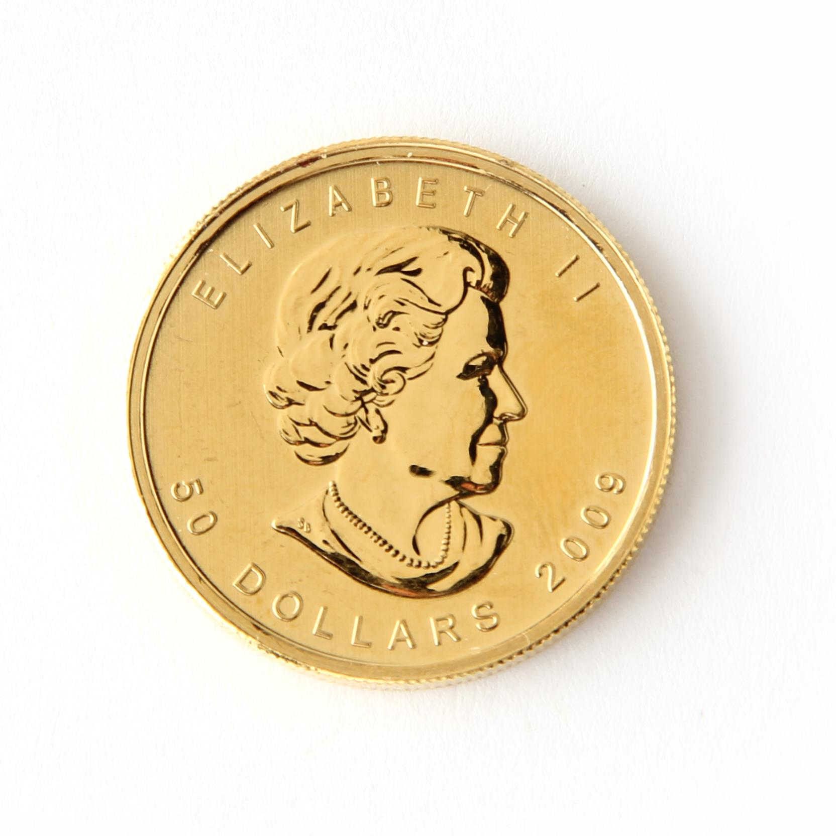 canada-2009-50-gold-maple-leaf-one-ounce-bullion-coin