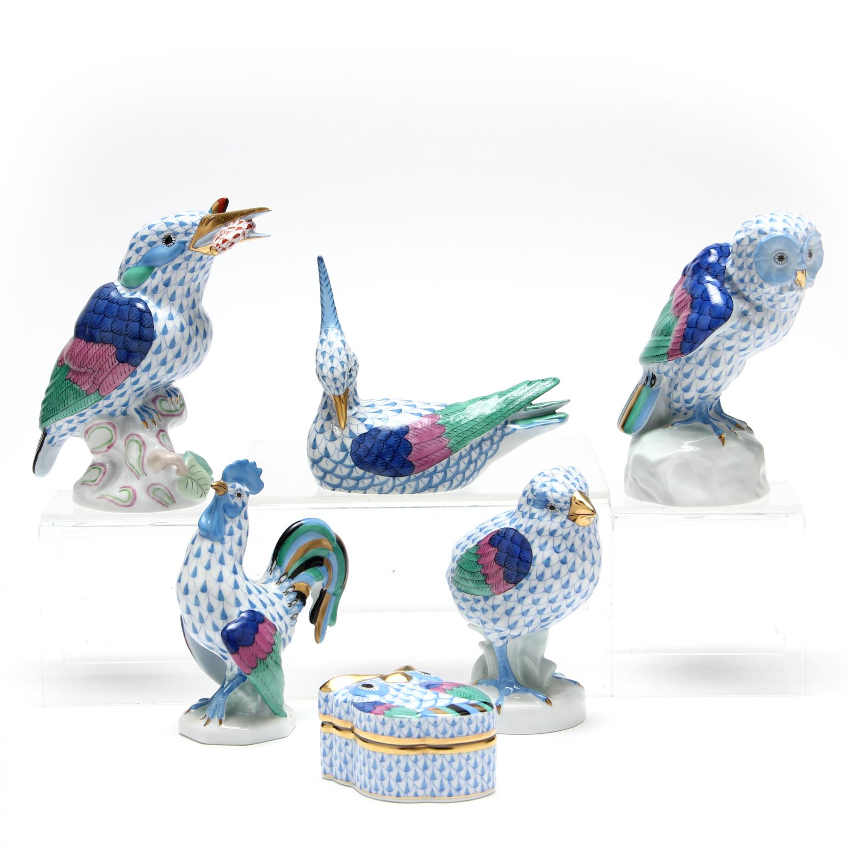 a-group-of-six-herend-bird-figurines-blue-fishnet