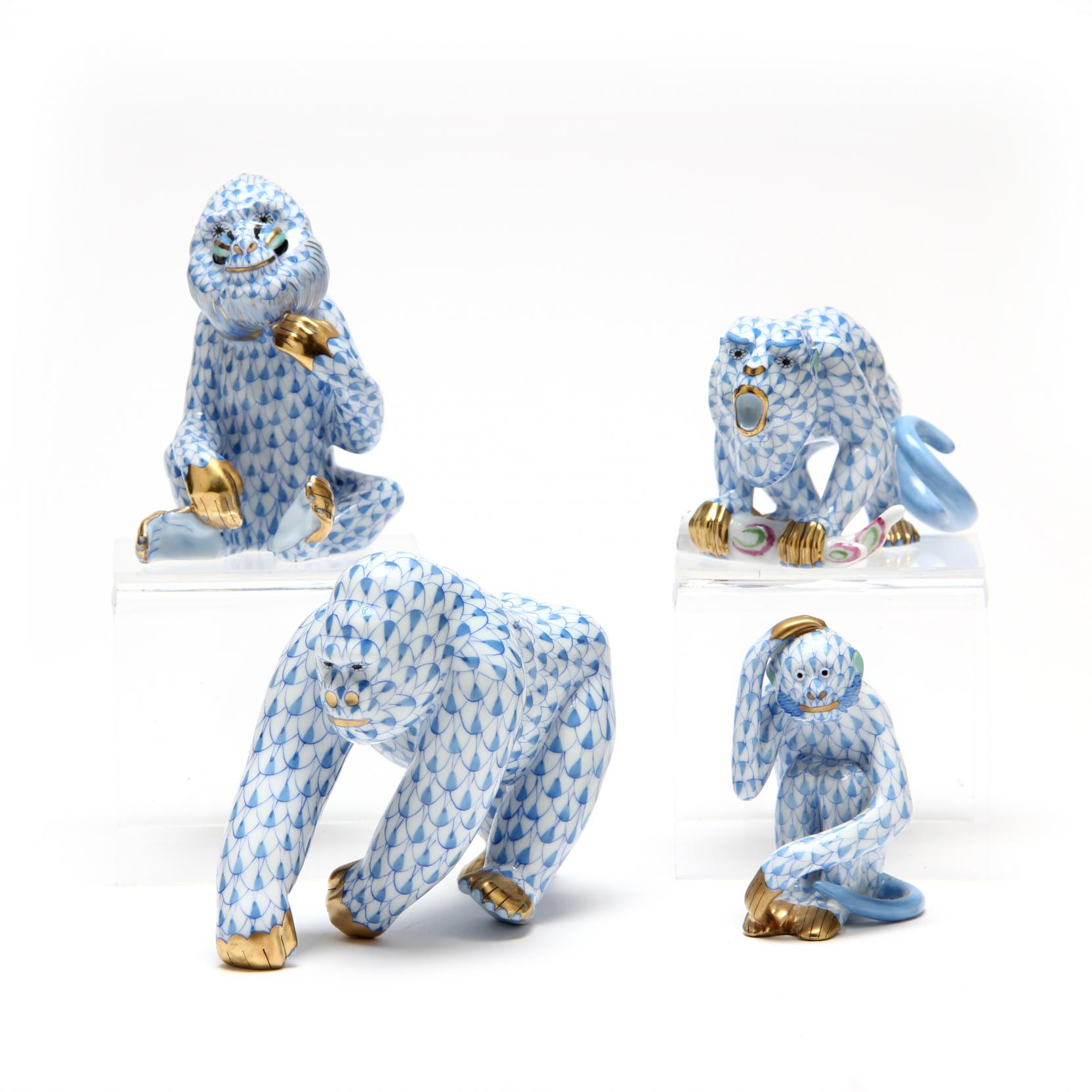 a-group-of-four-herend-simian-figurines