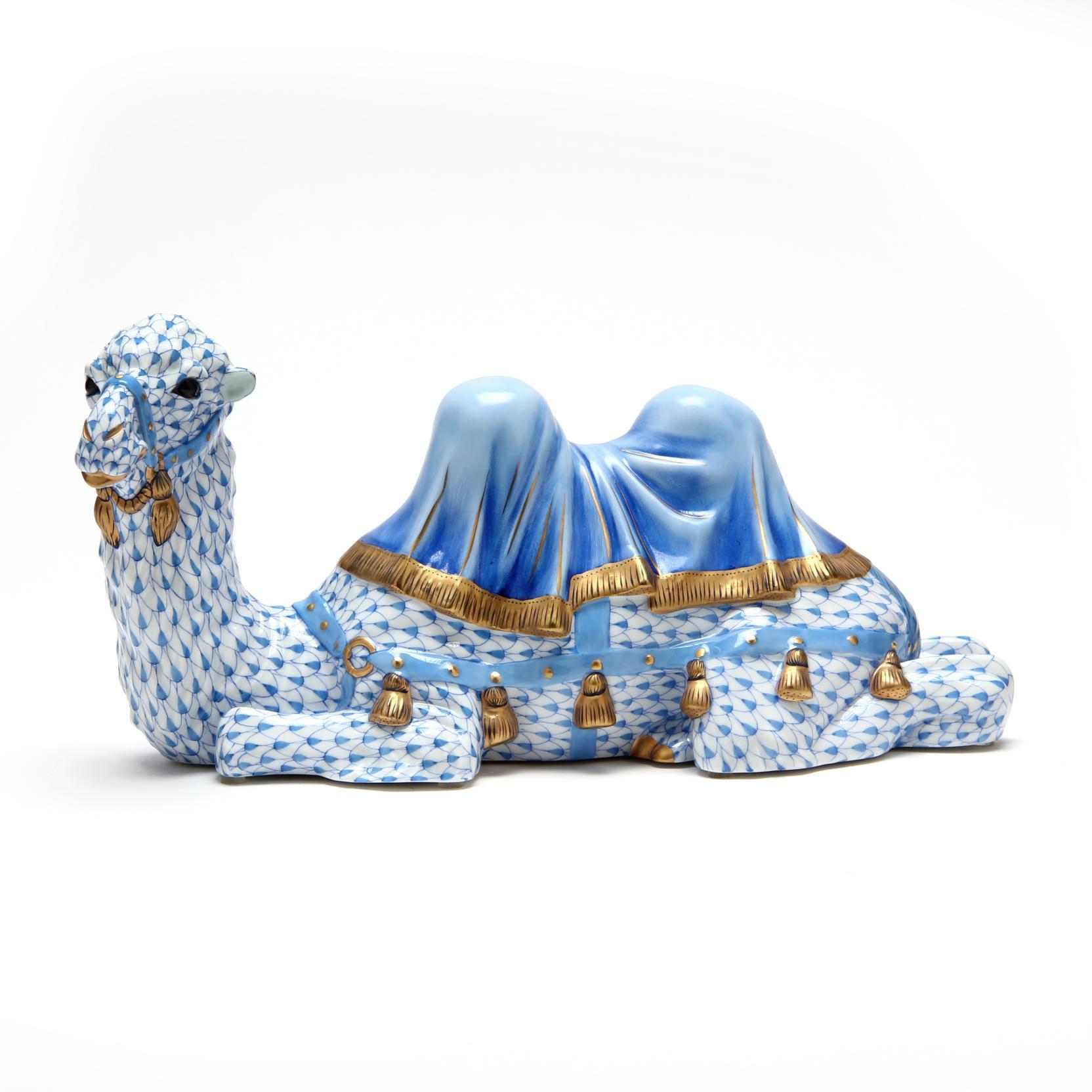 a-herend-figurine-of-a-dromedary-camel