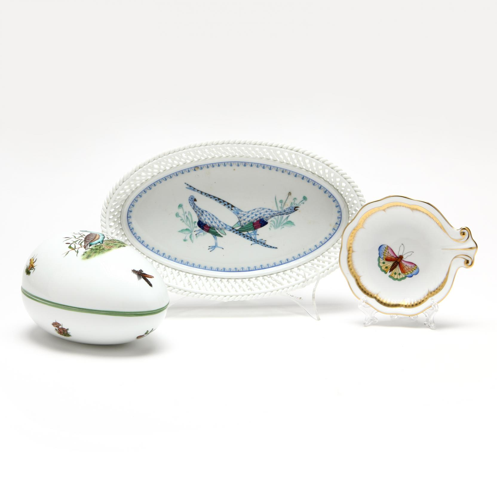 three-pieces-of-herend-porcelain