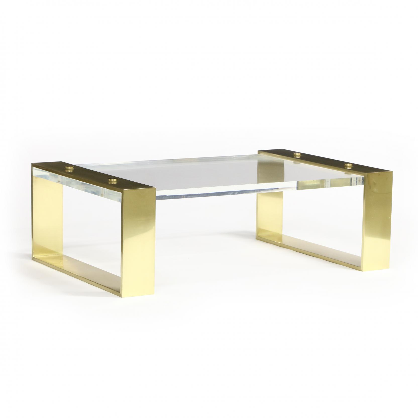 large-modernist-lucite-and-brass-cocktail-table