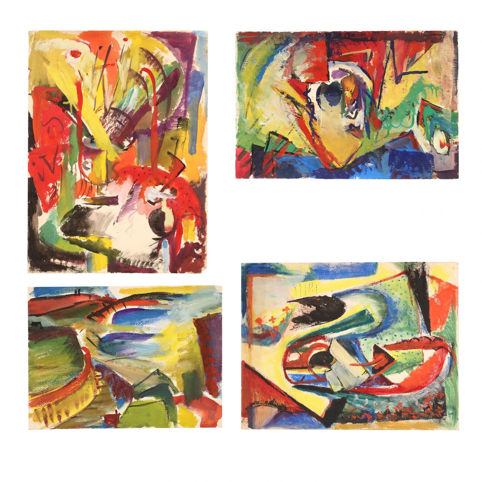 beulah-stevenson-ny-1890-1965-four-vibrant-mixed-media-works