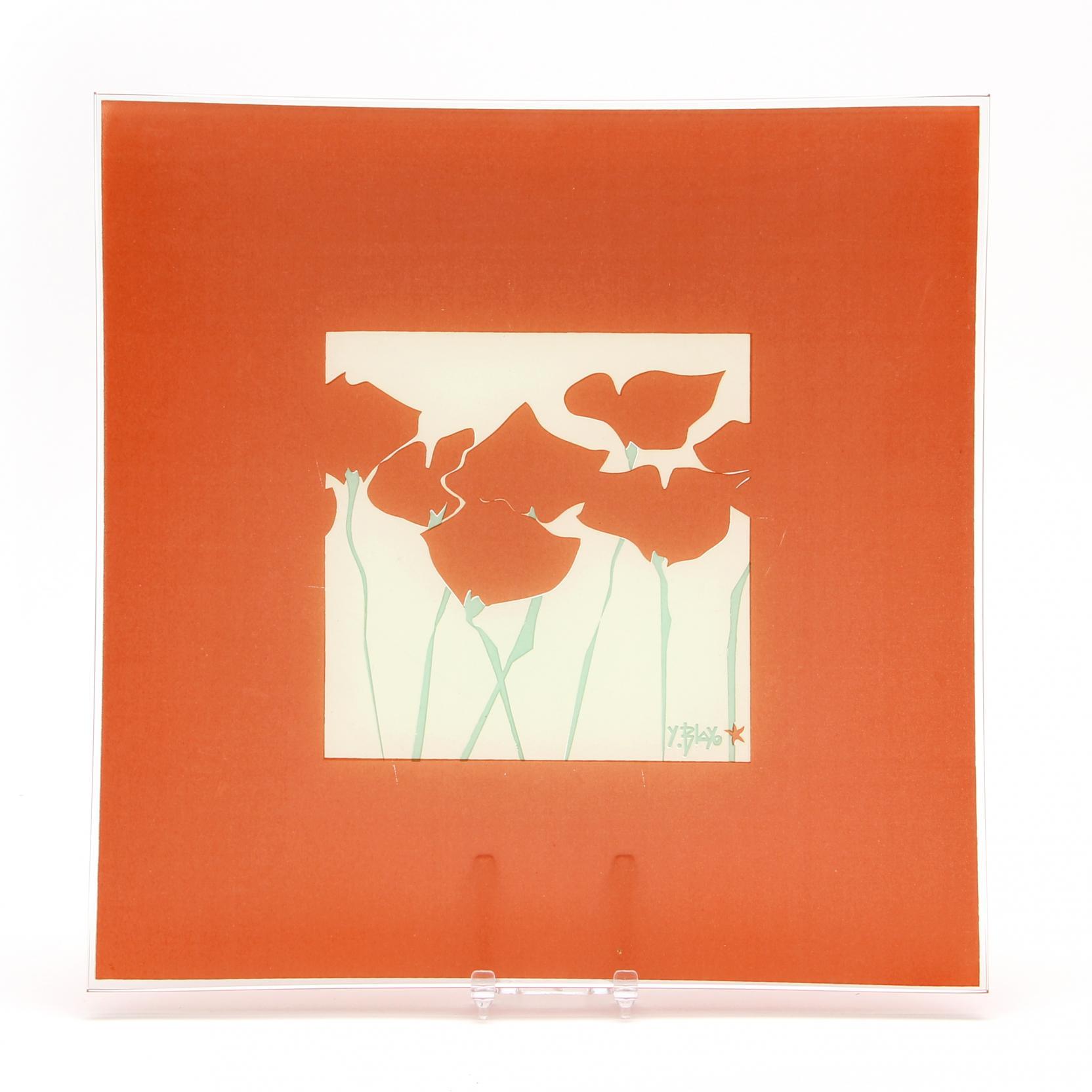 yves-blayo-fr-20th-century-poppy-plate