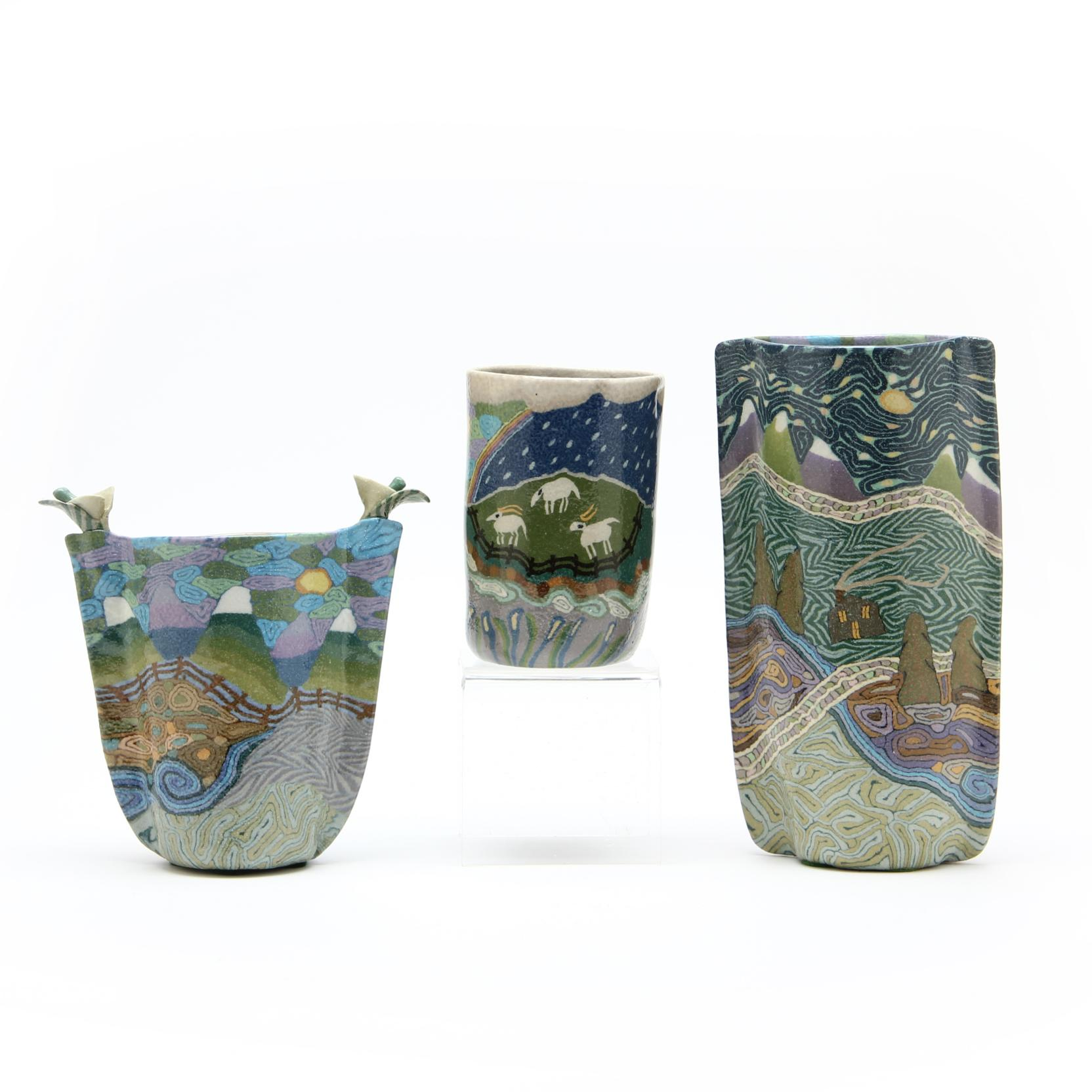 three-nc-folk-art-pottery-vessels-jane-peiser