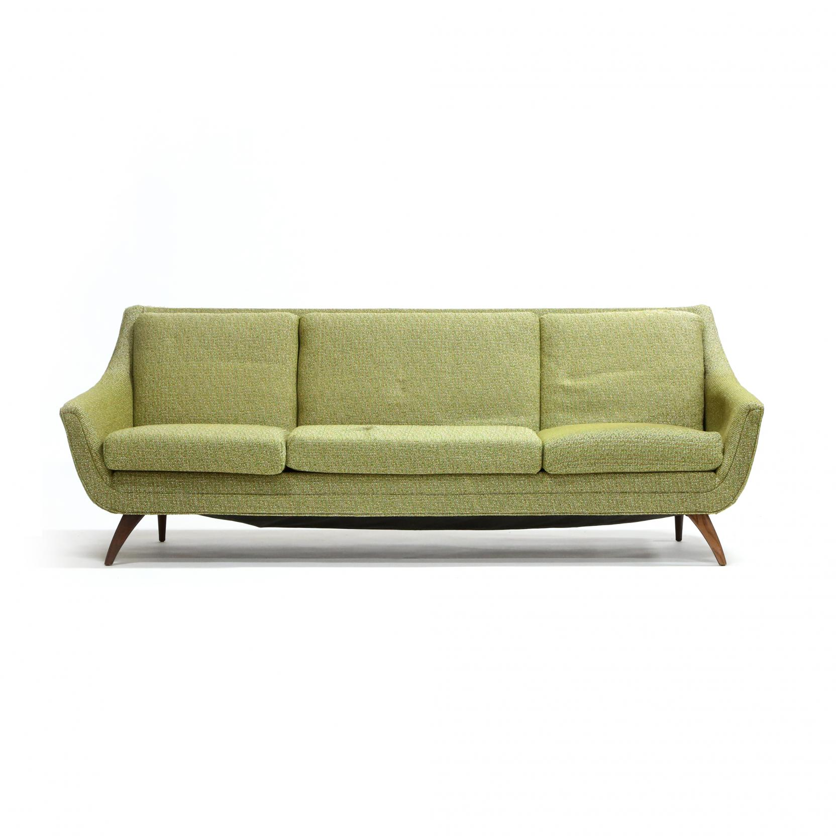 bassett-furniture-mid-century-sofa