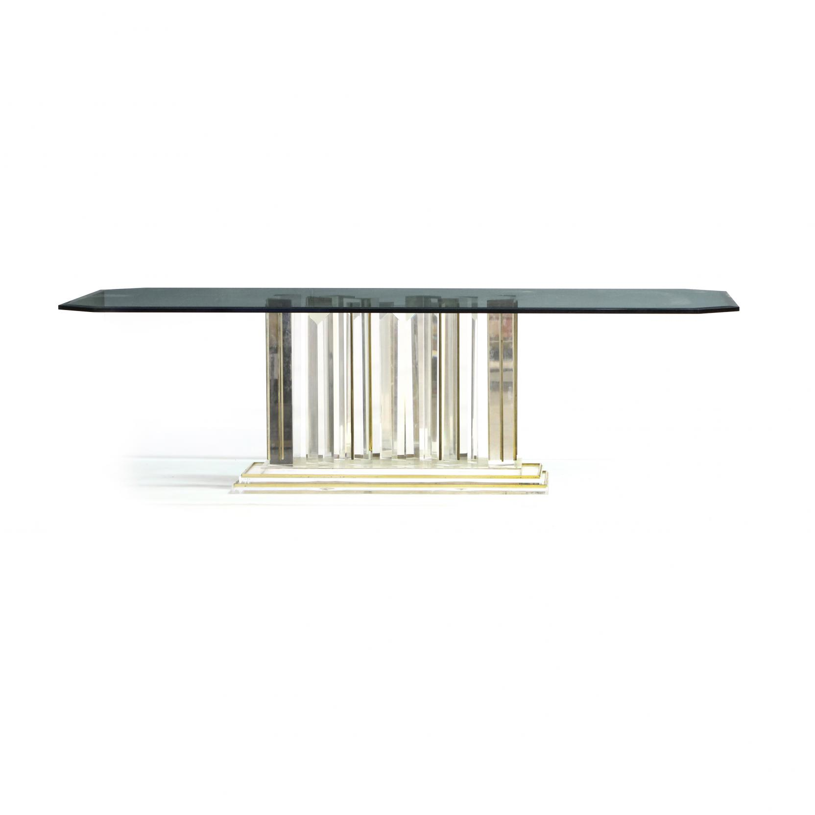 modernist-glass-and-lucite-dining-table