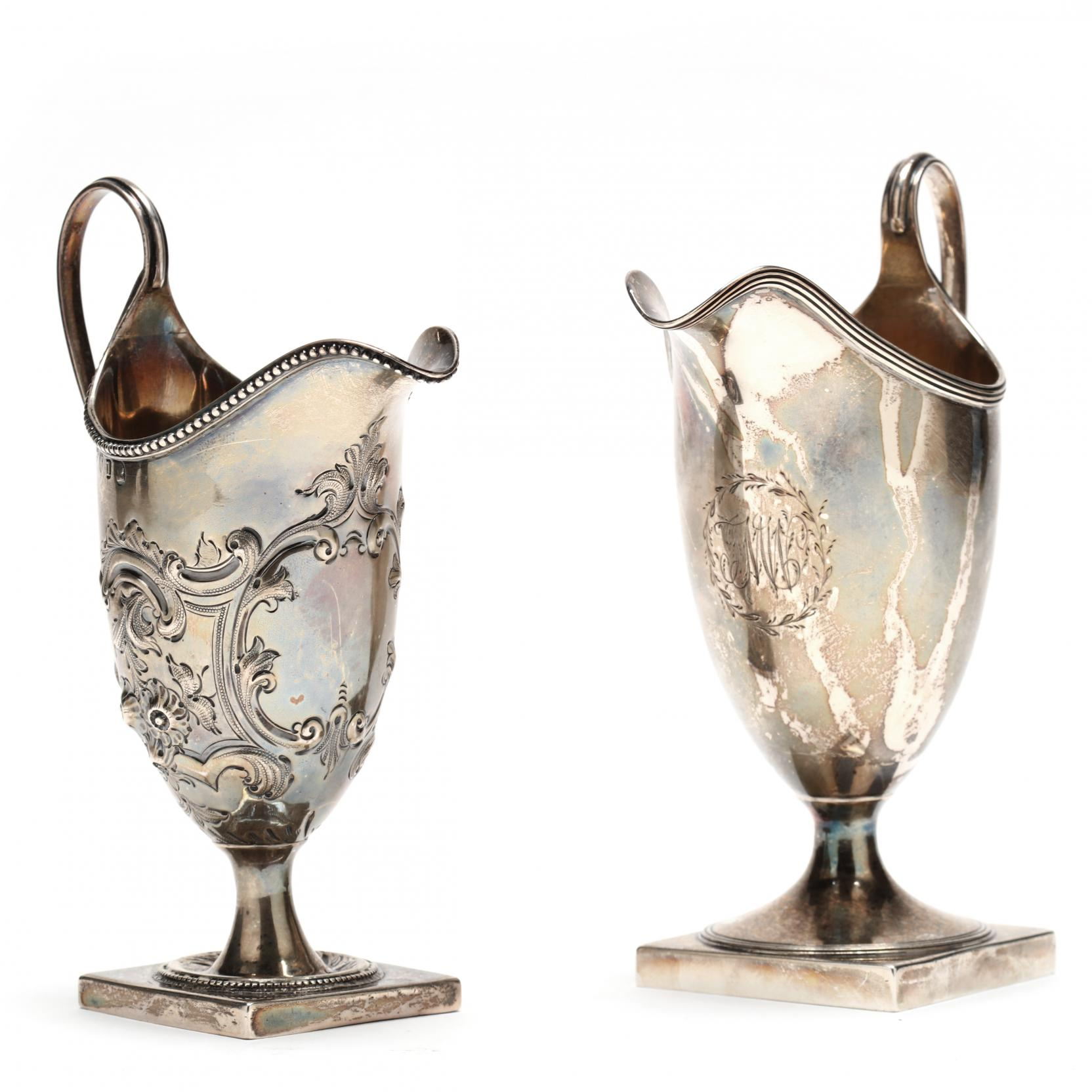 two-bateman-family-silver-creamers