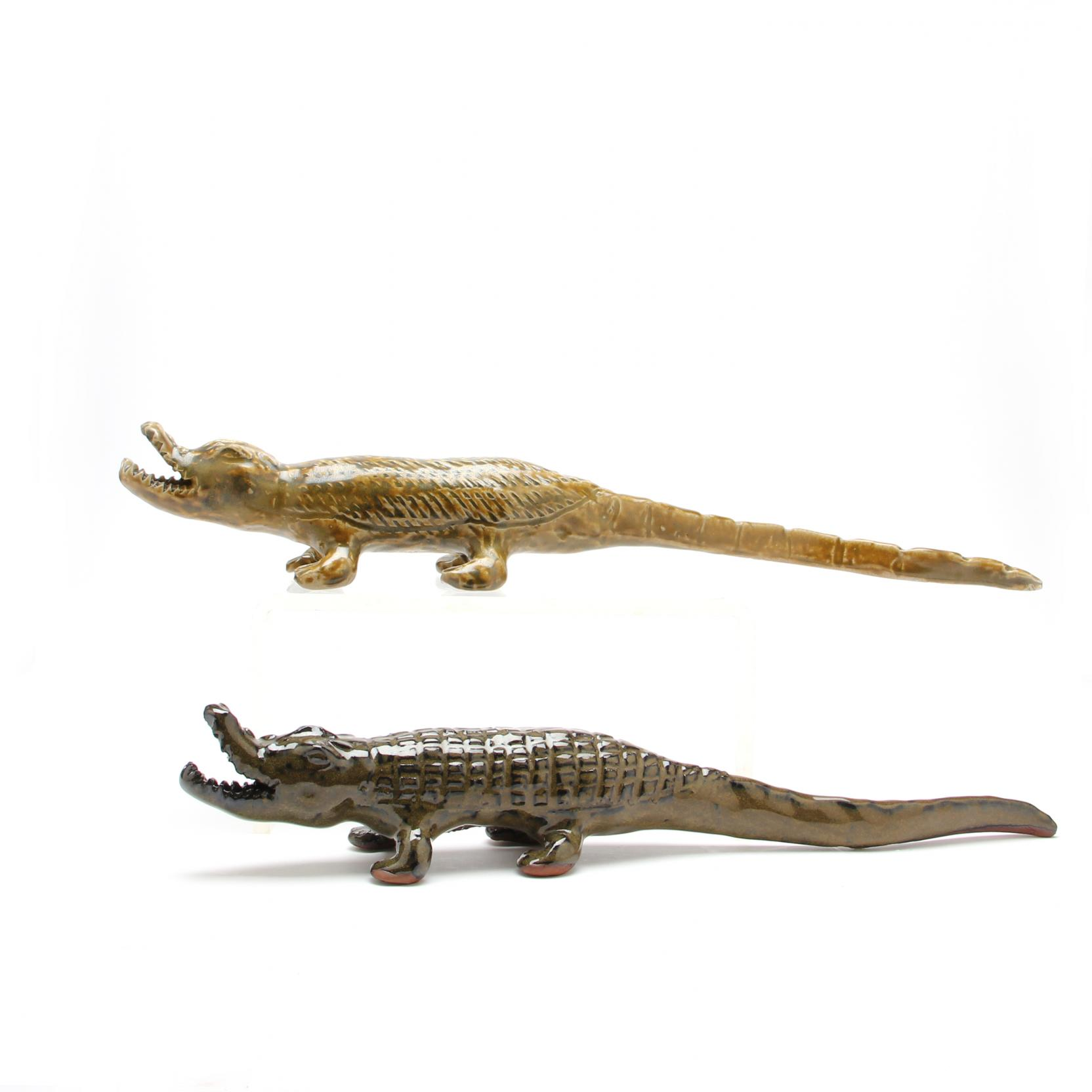 nc-folk-pottery-two-charles-moore-alligator-figures