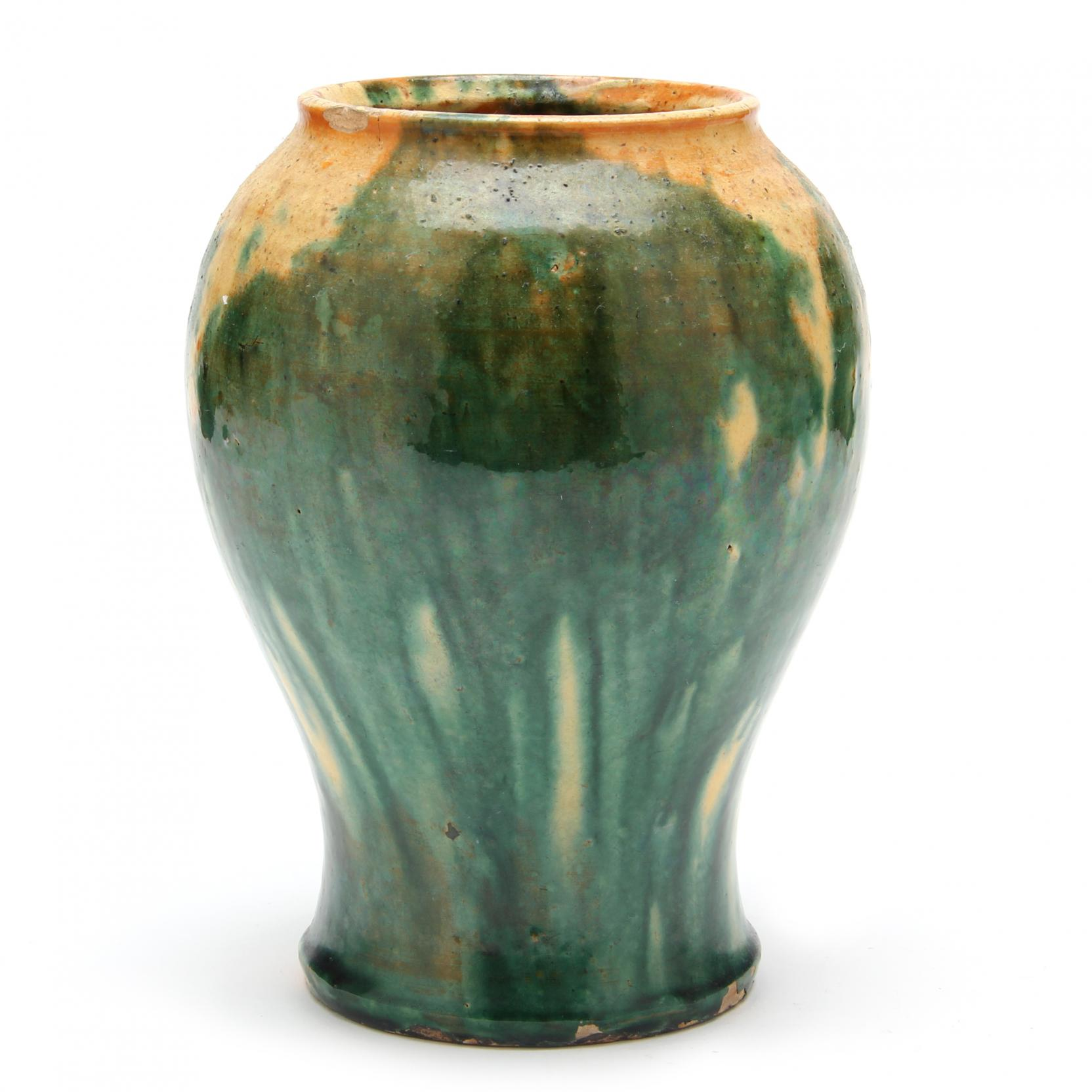 attributed-to-log-cabin-pottery-baluster-vase