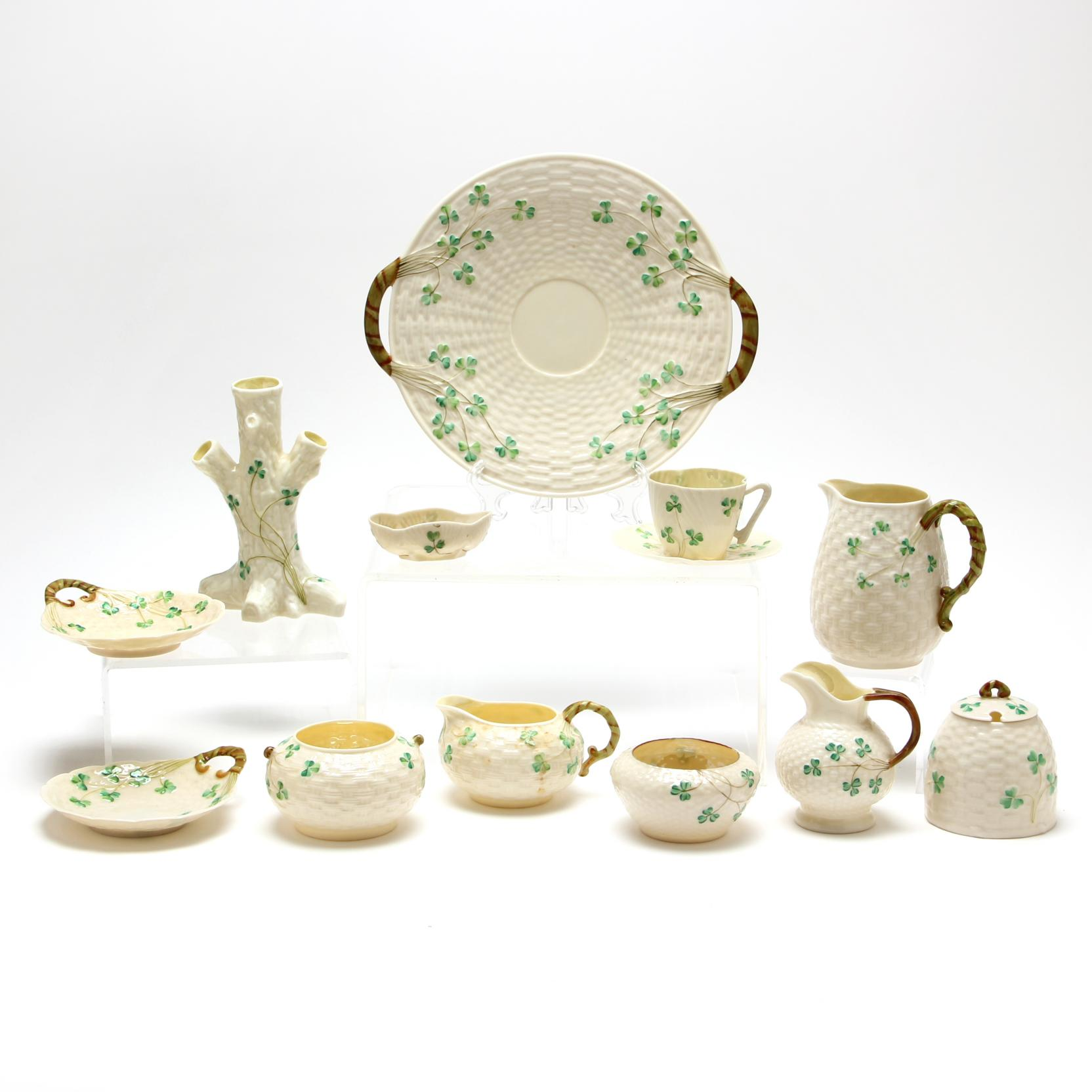 twelve-pieces-of-belleek-clover-decorated-porcelain